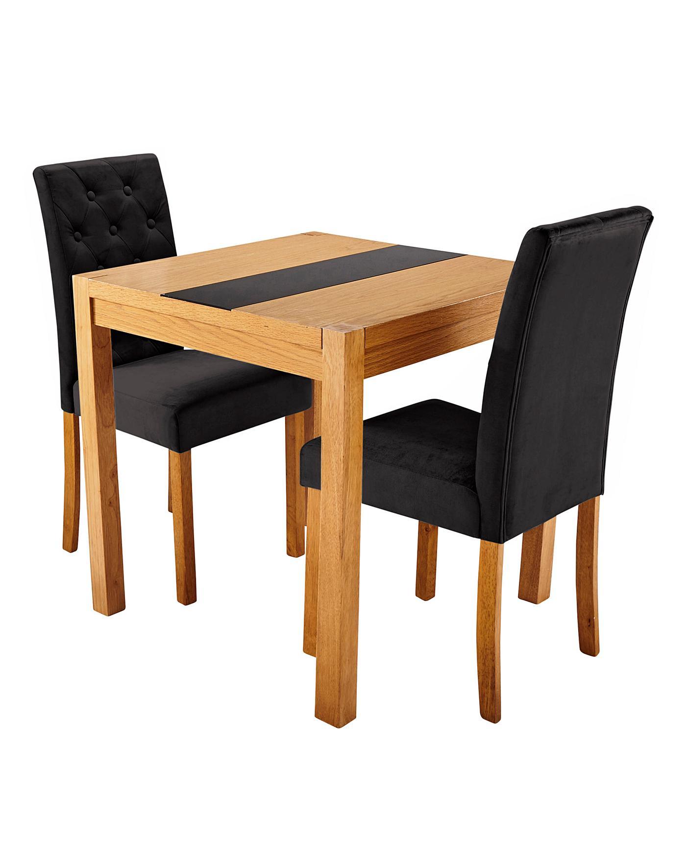 Oakham Panel Table 2 Grace Velvet Chairs J D Williams