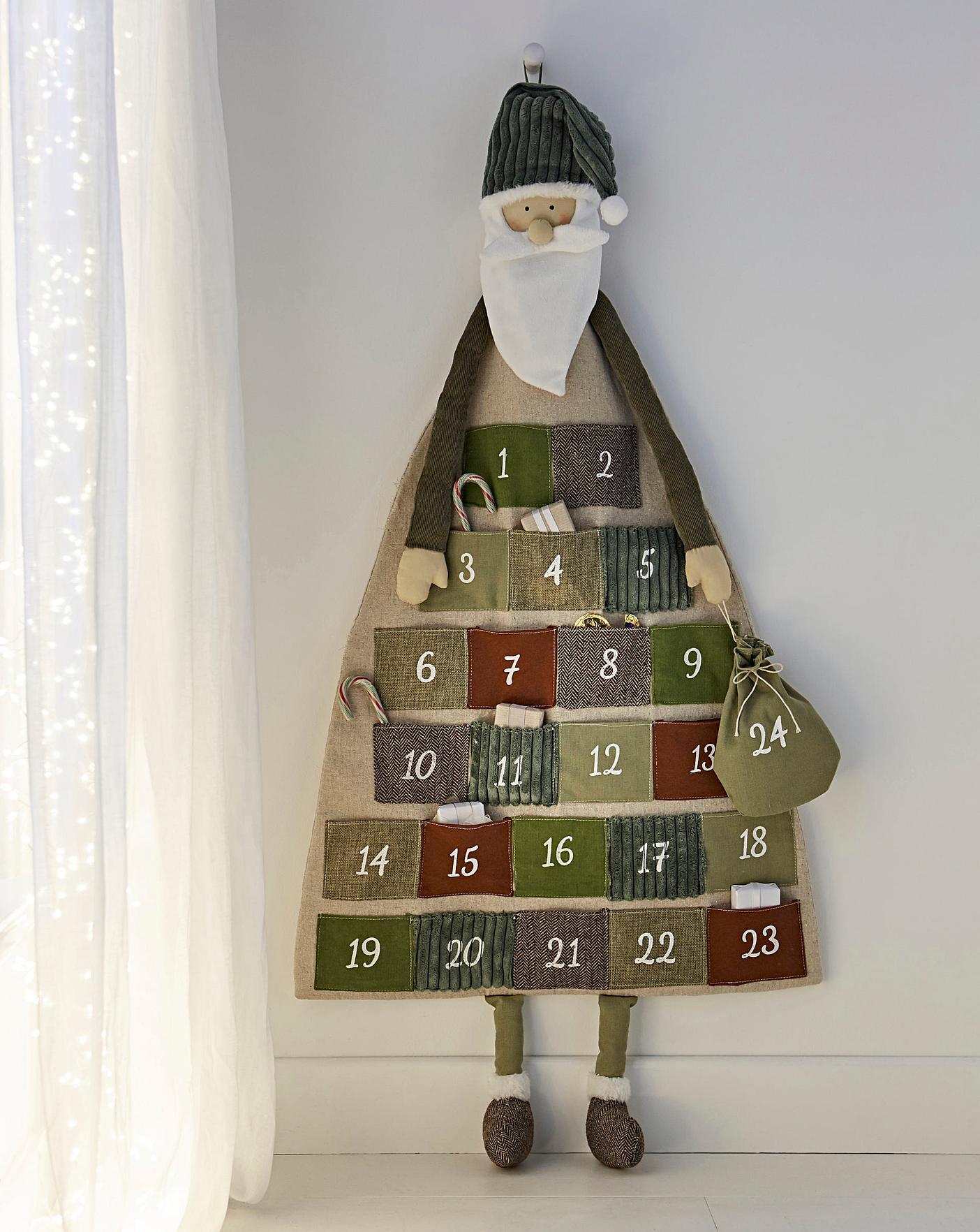 Large Fabric Santa Claus Advent Calendar Oxendales