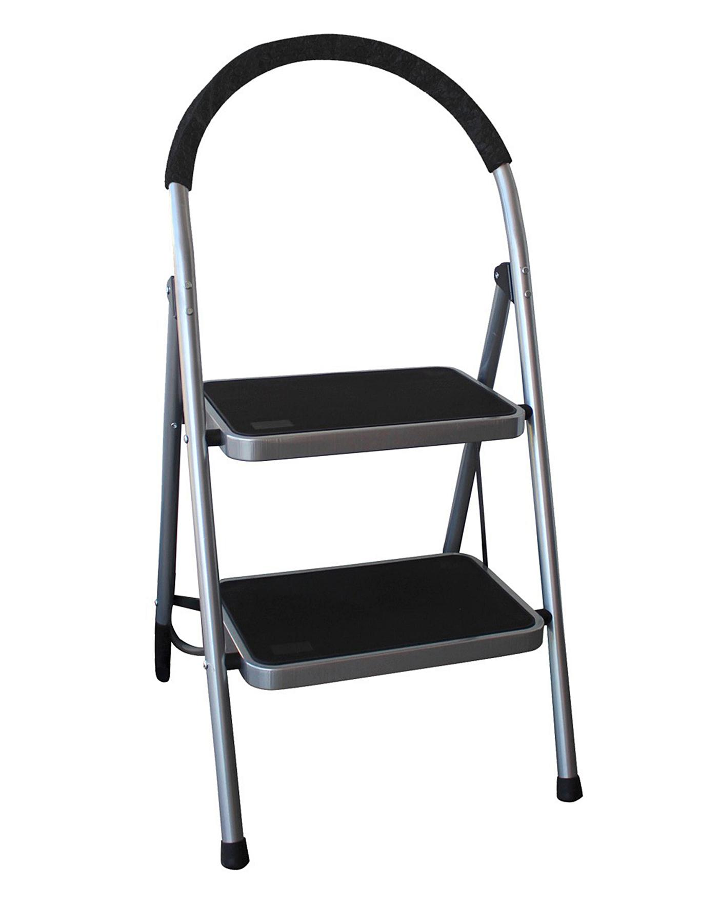 Strange Folding 2 Step Lightweight Ladder Lamtechconsult Wood Chair Design Ideas Lamtechconsultcom