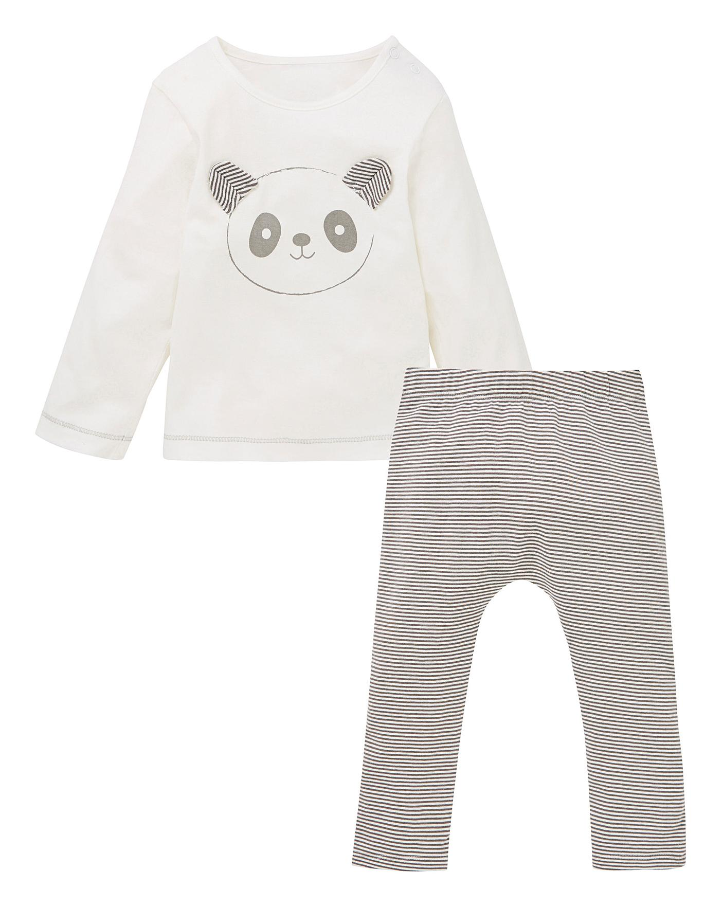c972f68a20e2 KD Baby Uni Panda Tee and Legging Set