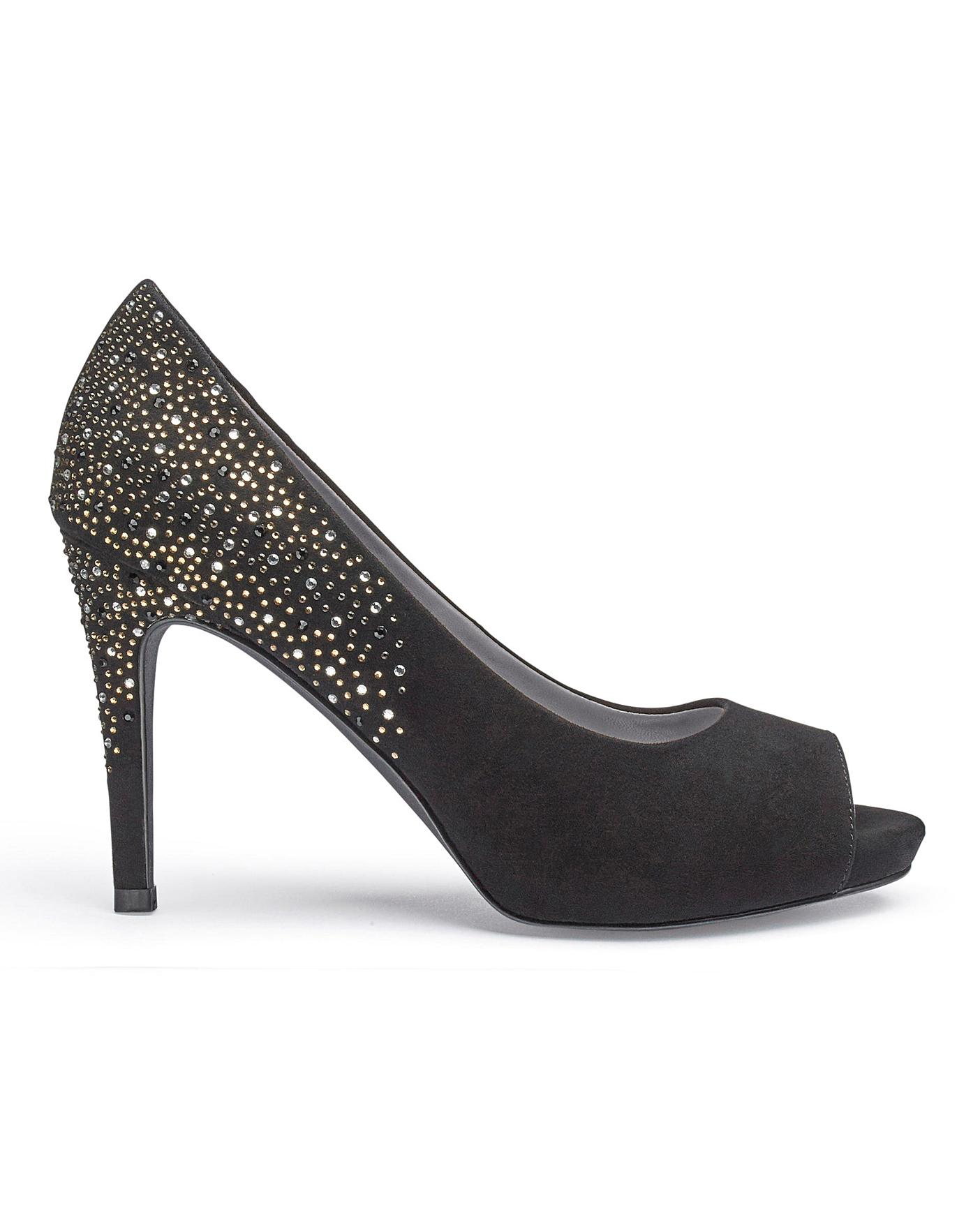 ee0649933071 Joanna Hope Peep Toe Shoes EEE Fit