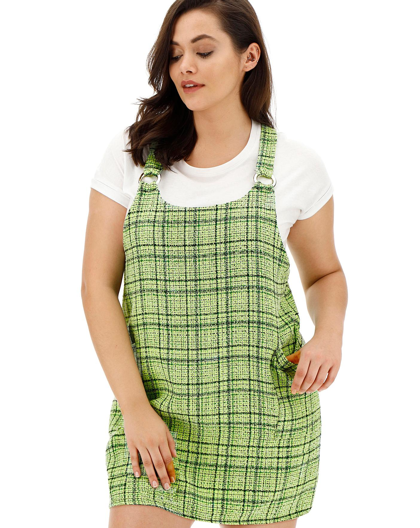 hot-selling fashion stylish design beautiful in colour AX Paris Green Tweed Pinafore Dress