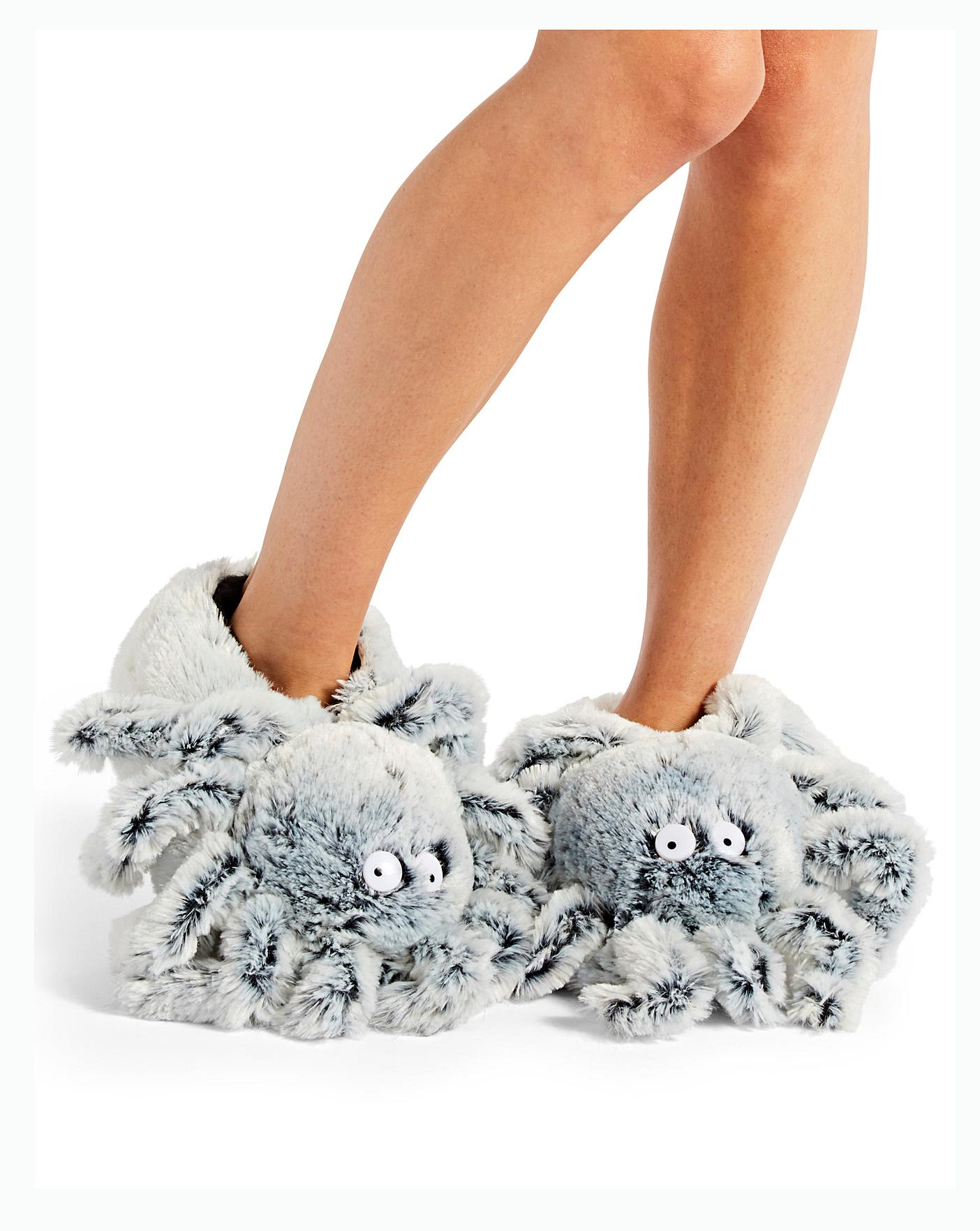 Spider Novelty Slipper Wide Fit Crazy Clearance