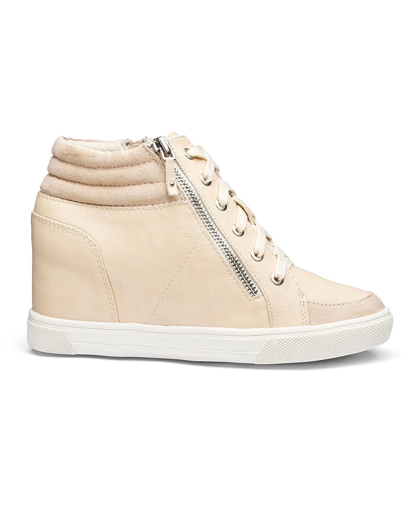 wide fit high top trainers