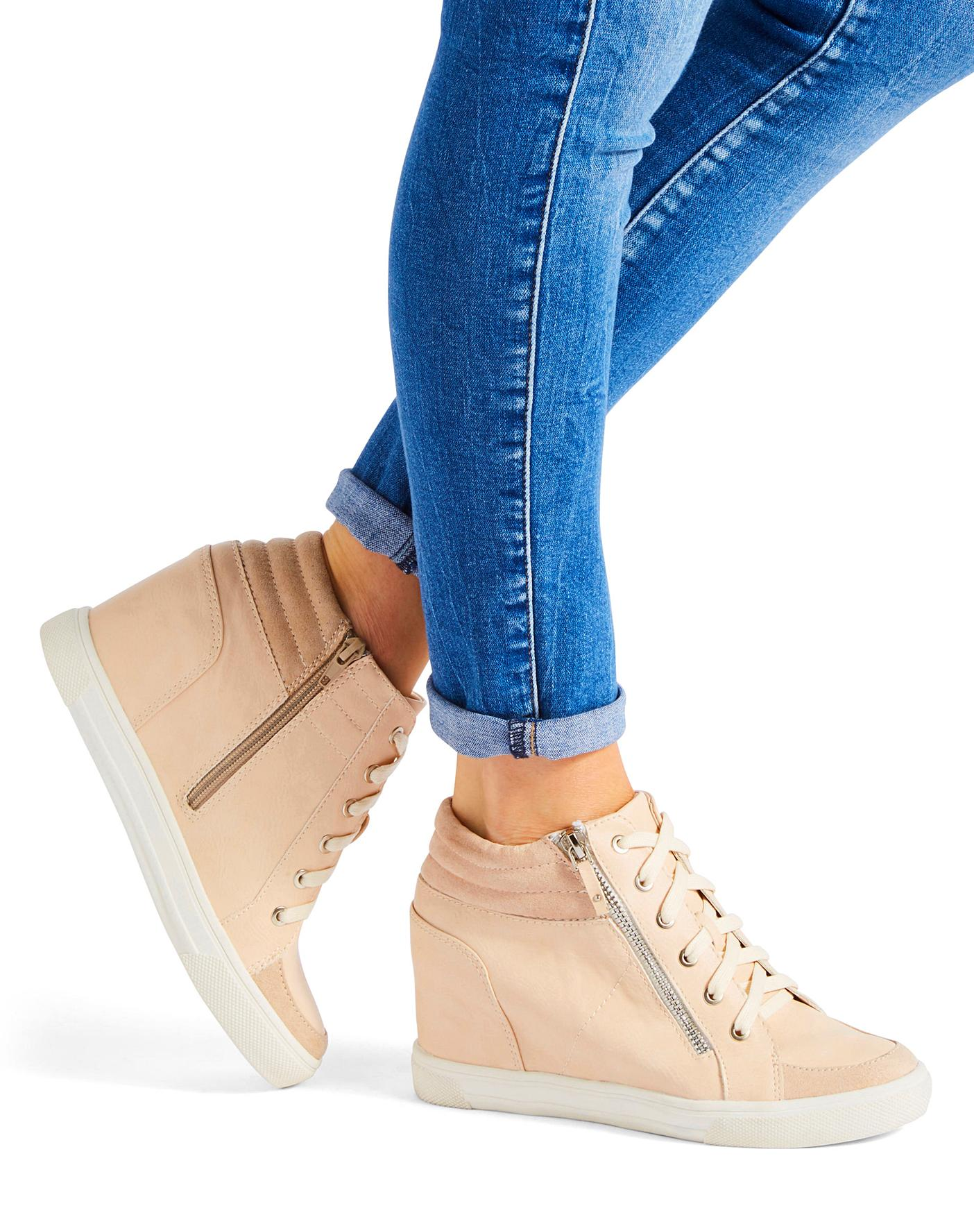 Leila Wedge Trainer Wide Fit | J D Williams