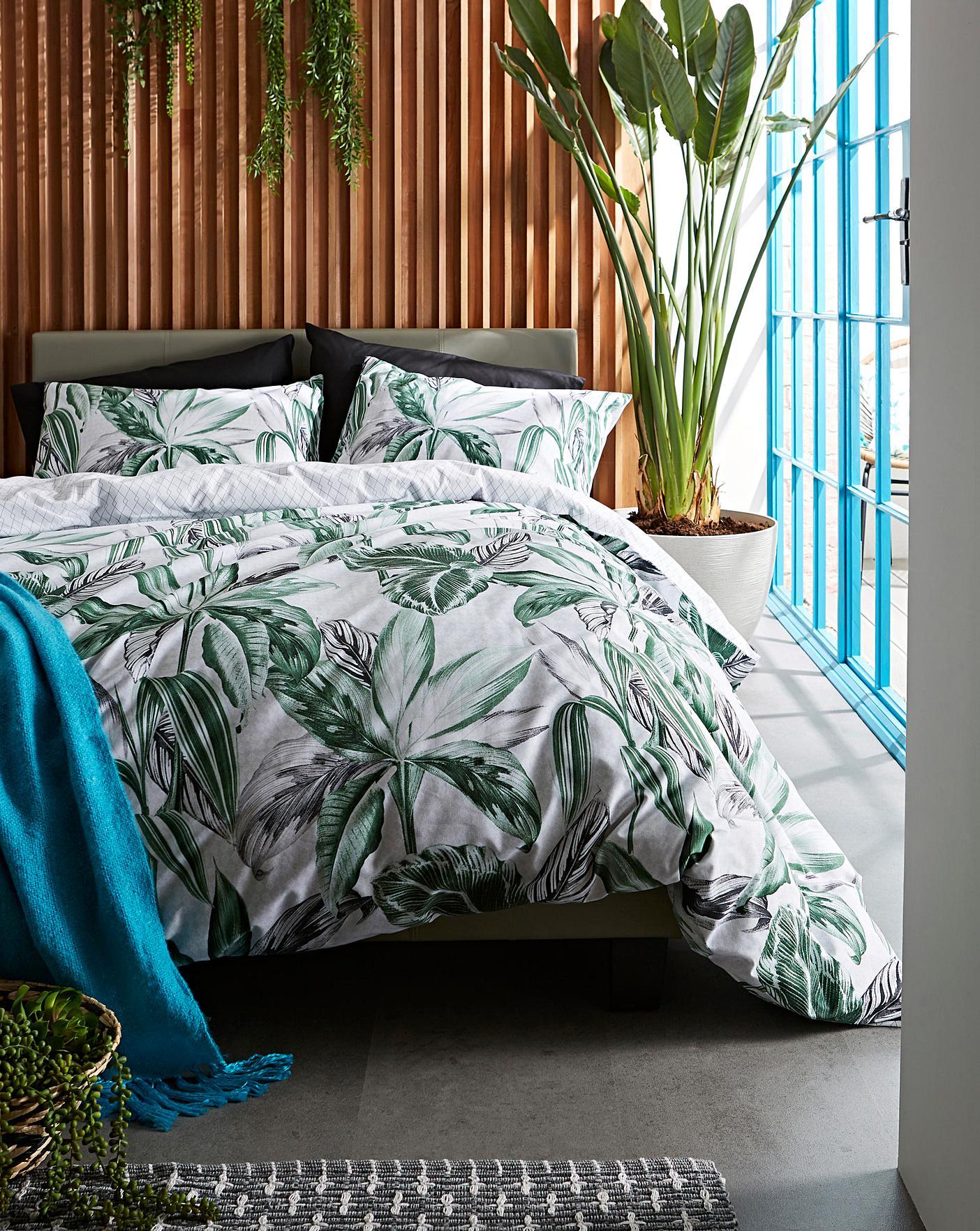 Sunkissed Palm Duvet Cover Set Home Essentials