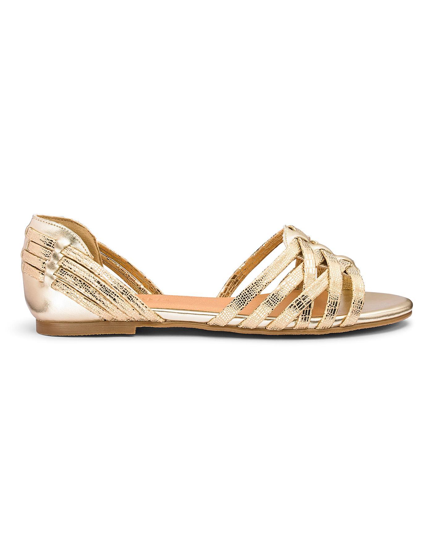 Interweave Open Toe Shoes E Fit   Oxendales