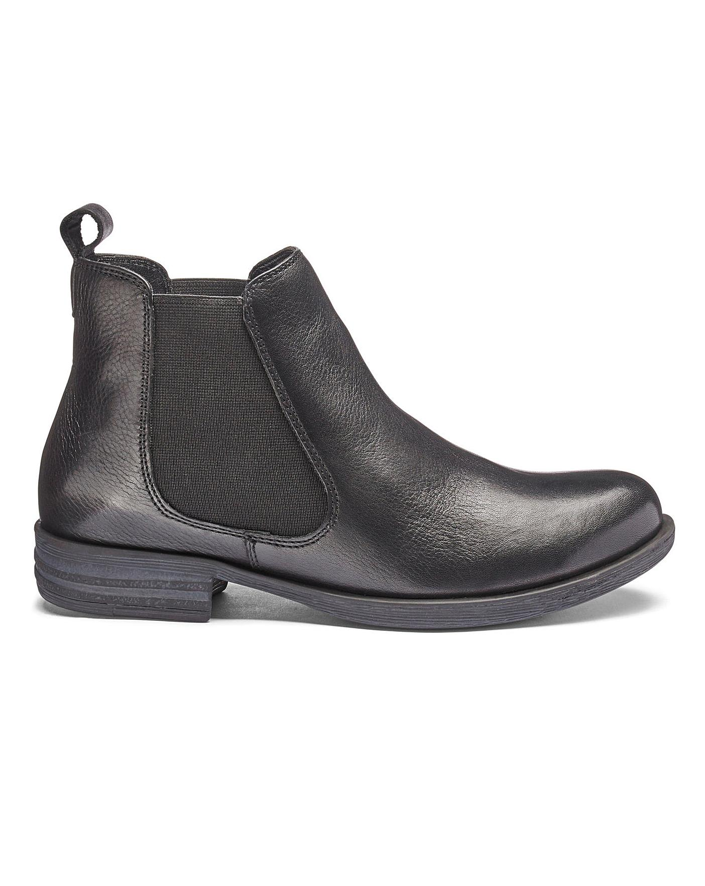 wholesale huge sale convenience goods Leather Chelsea Ankle Boots EEE Fit