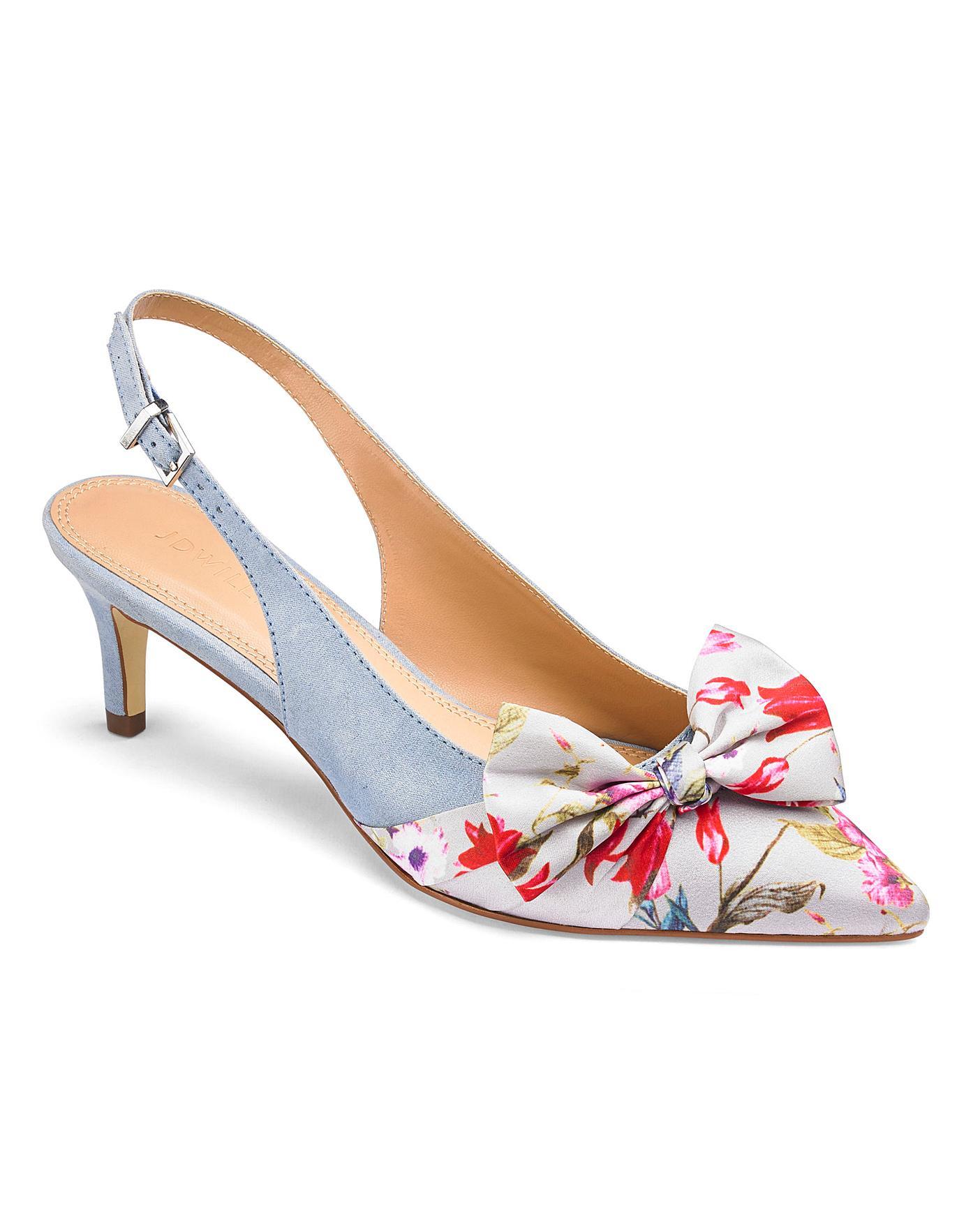 adbc5ec259 Joanna Hope Slingback Bow Shoes E Fit | Simply Be