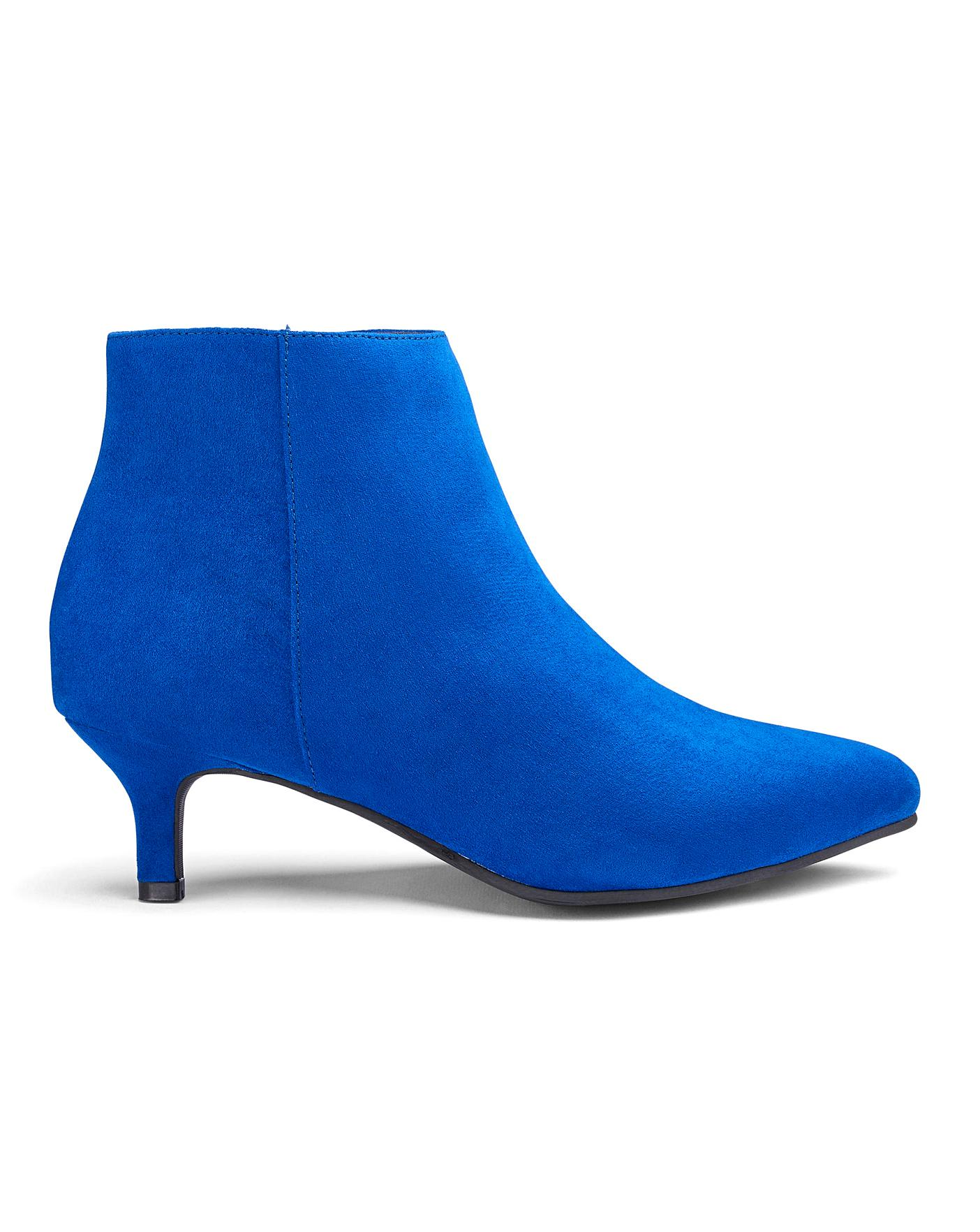 on feet shots of high fashion nice cheap Flexi Sole Kitten Heel Ankle Boots E Fit