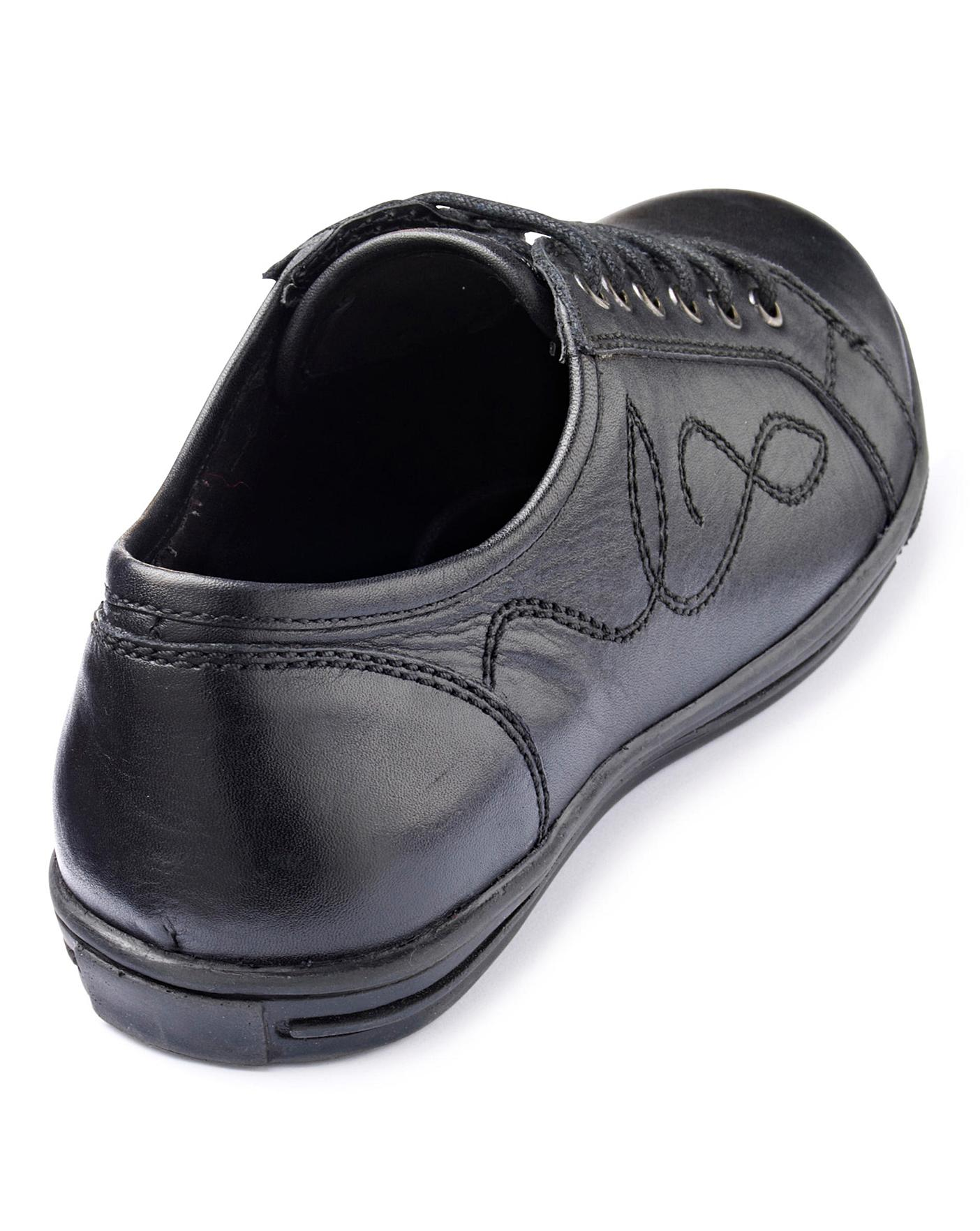 Girls Lace Up School Shoes Wide Fit