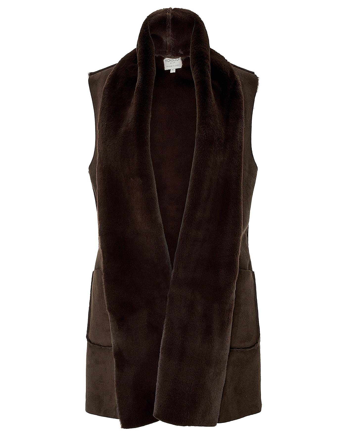 Monsoon Sherry Suedette Gilet