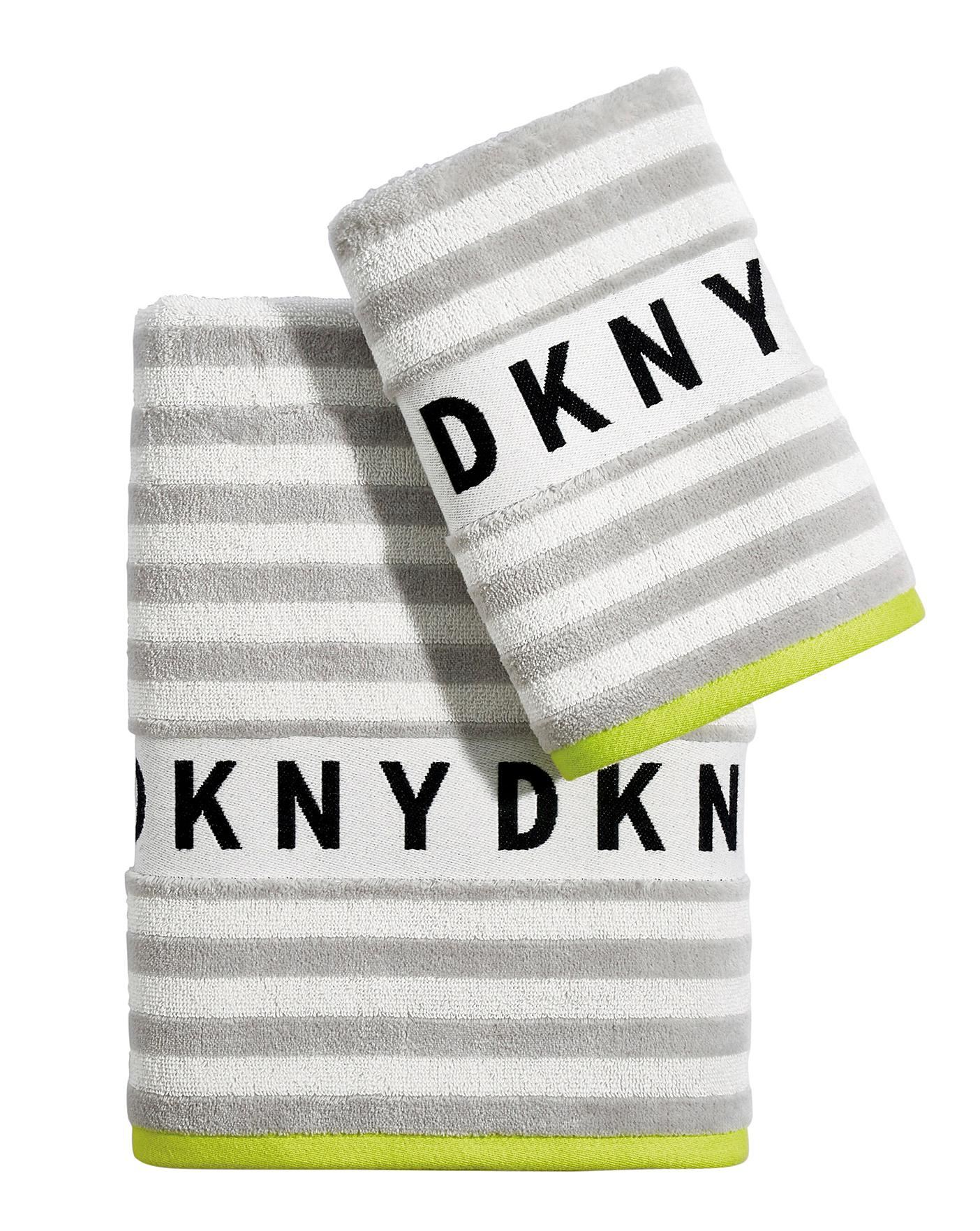 Dkny Ticker Tape Towel Fashion World
