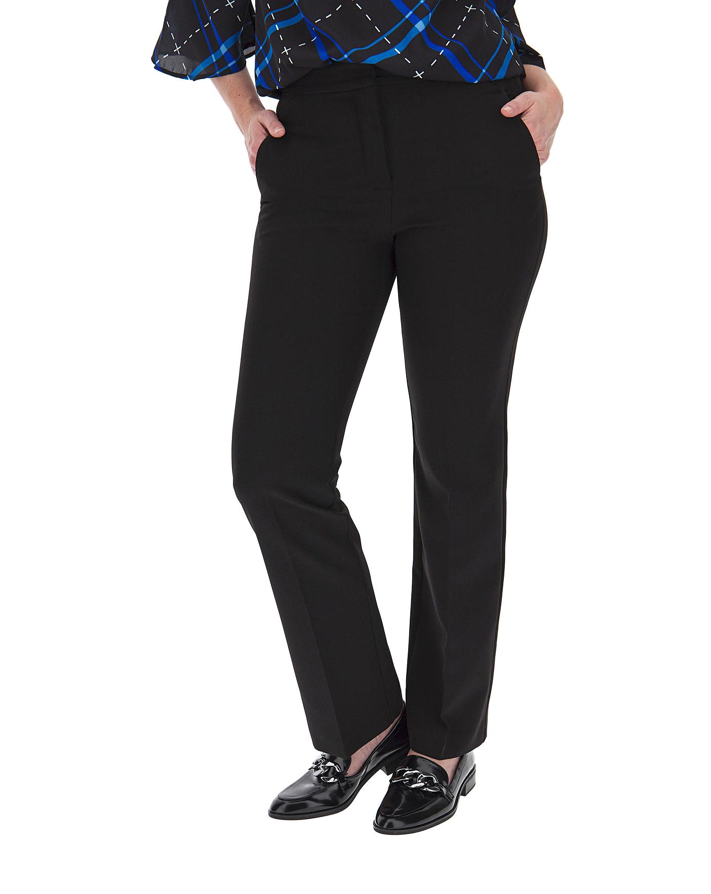 Simply Be Womens Magisculpt Smart Straight Leg Tailored Trousers