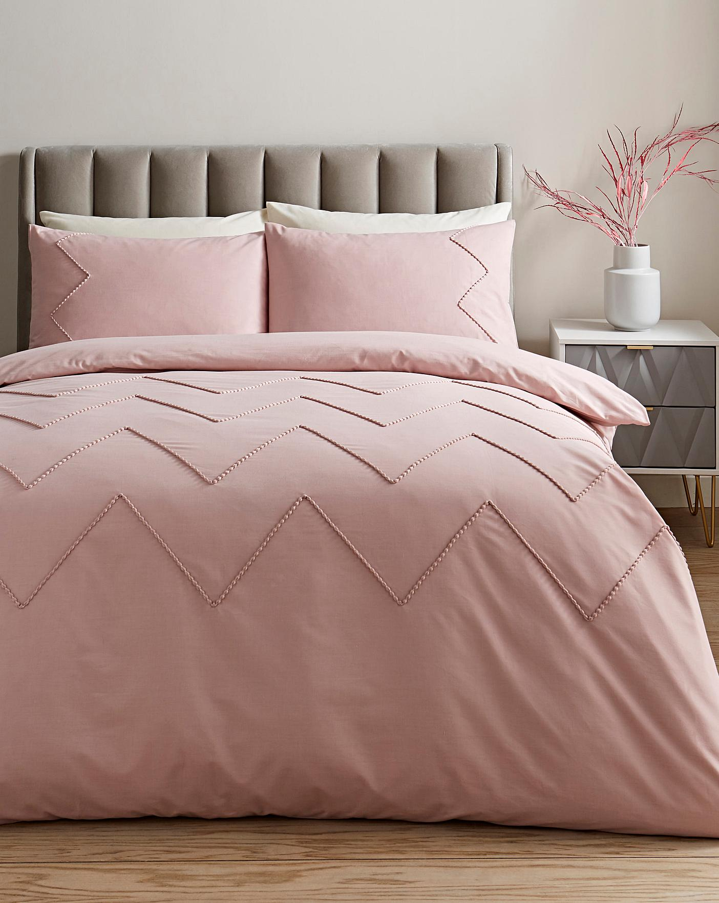 Wave Blush Duvet Set Simply Be