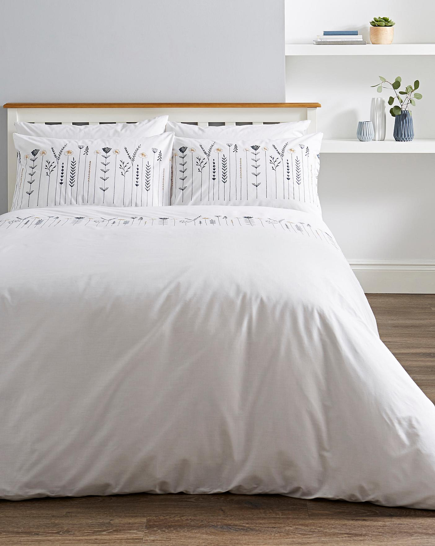 Molly Embroidered Duvet Cover Set J D Williams