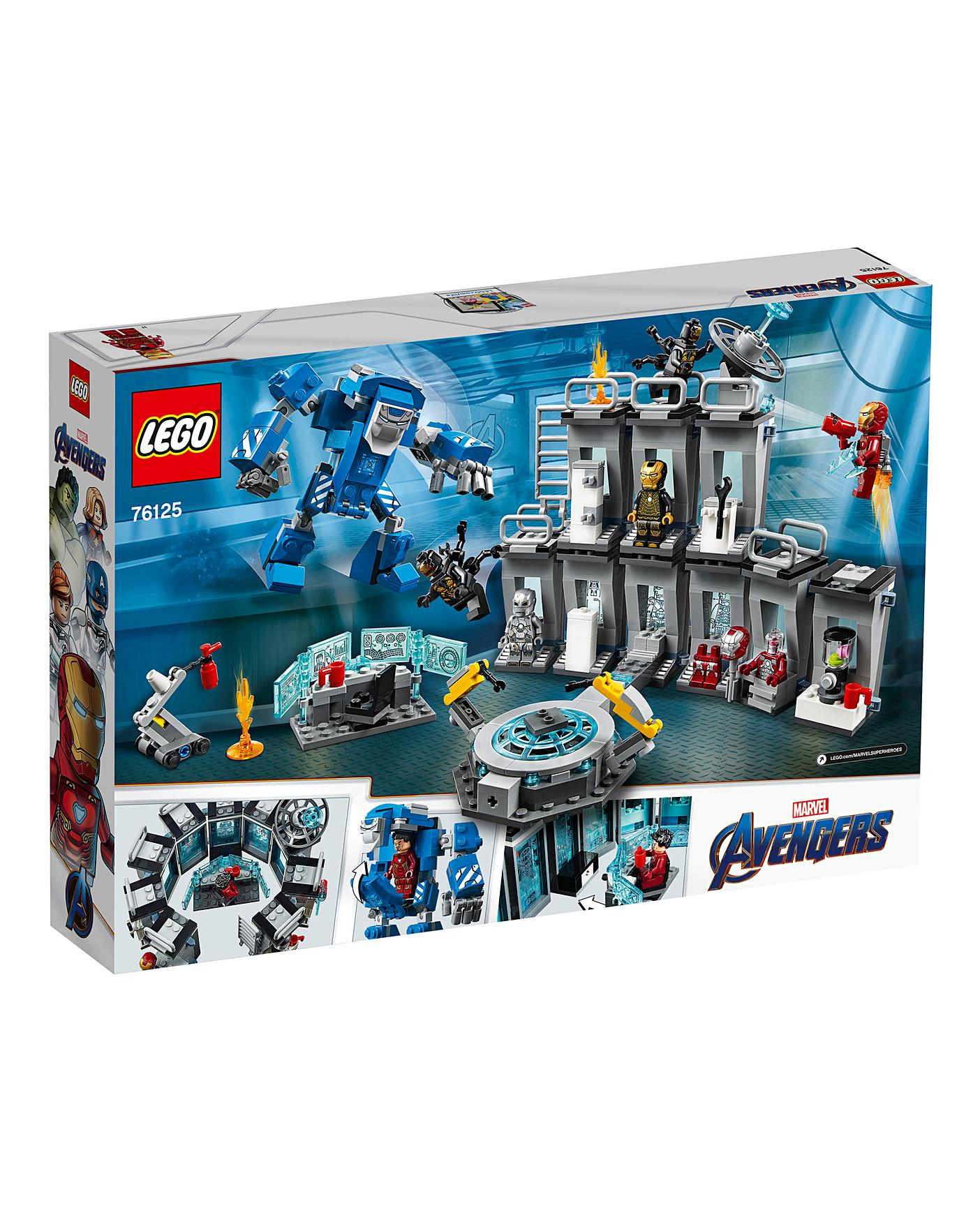 lego marvel avengers iron man hall of armor 76125 - HD1200×1200
