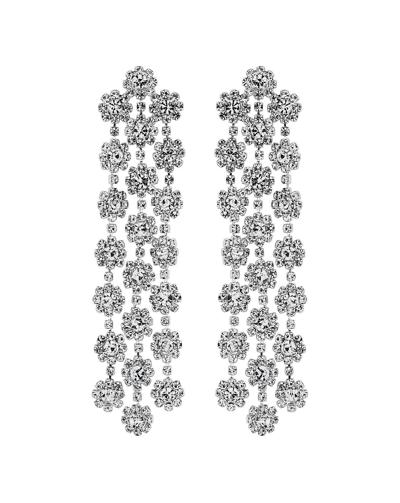 af69f3c3e4b Mood Triple Flower Shower Chand Earrings