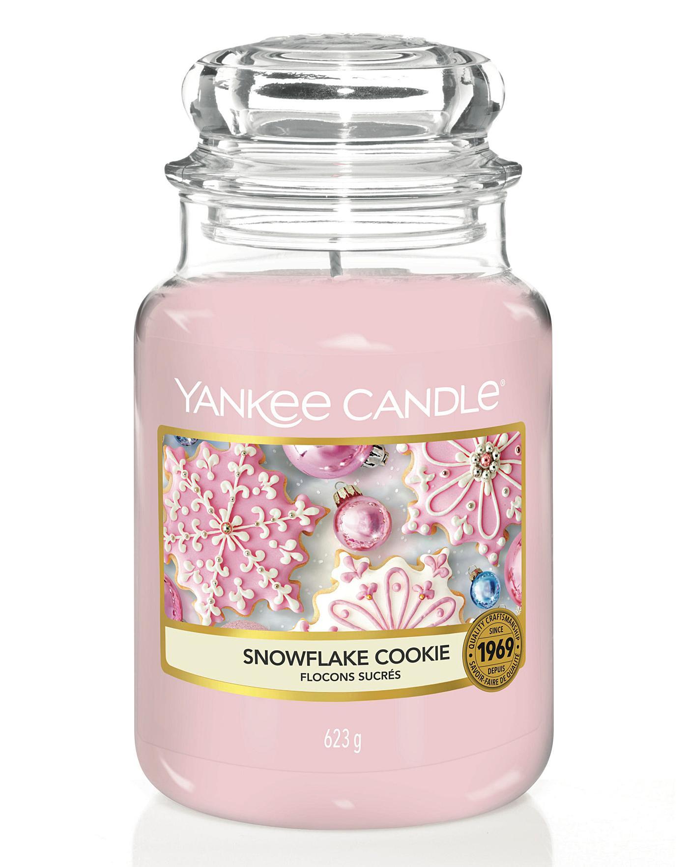 Snowflake Cookie Yankee Candle Large - cookie ideas