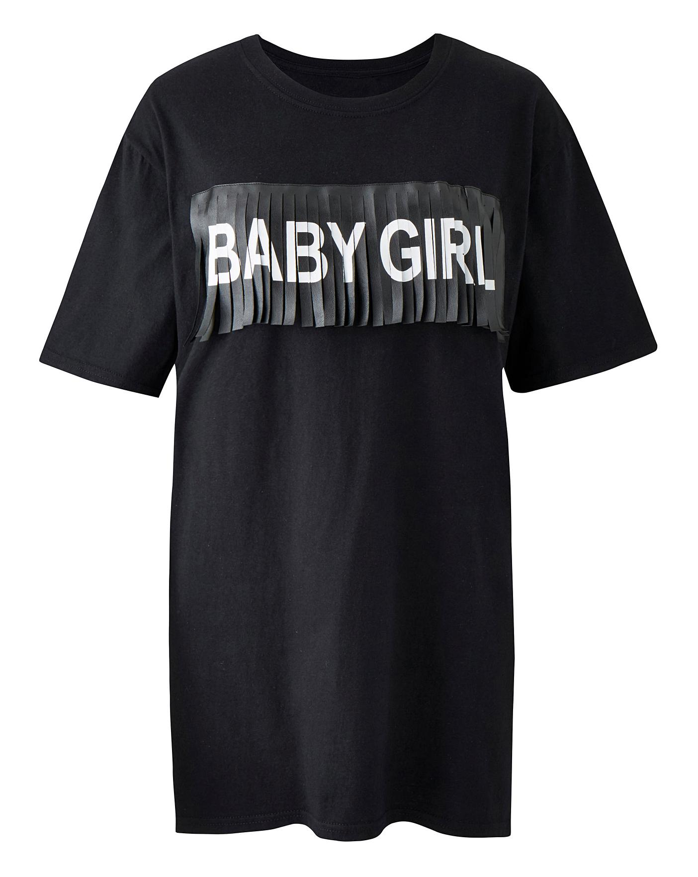 Simply Be Baby Girl Slogan Tee Crazy Clearance