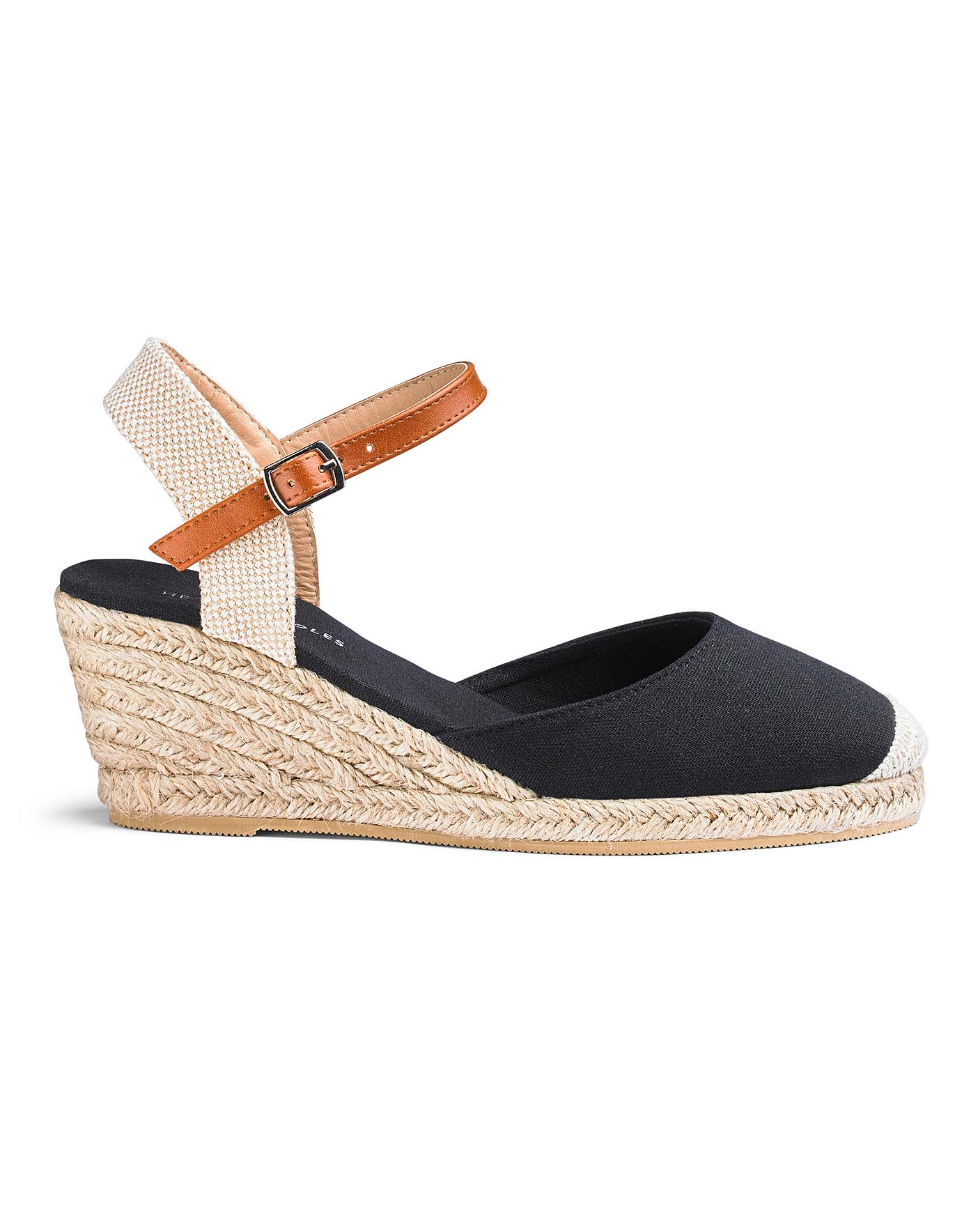 wholesale online official supplier running shoes Espadrille Wedge Sandals EEE Fit | J D Williams