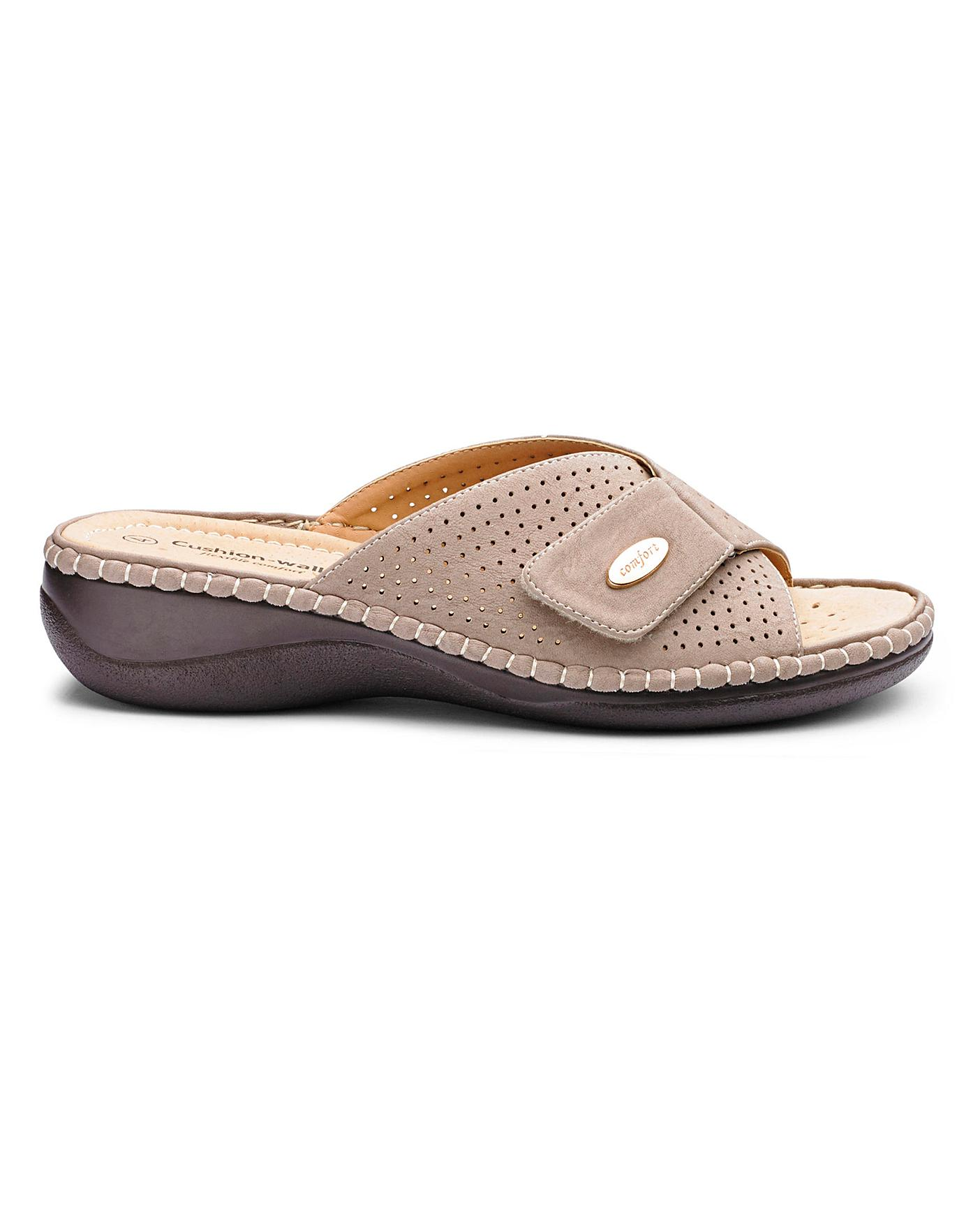 5f4504e457b2 Cushion Walk Mule Sandals EEE Fit