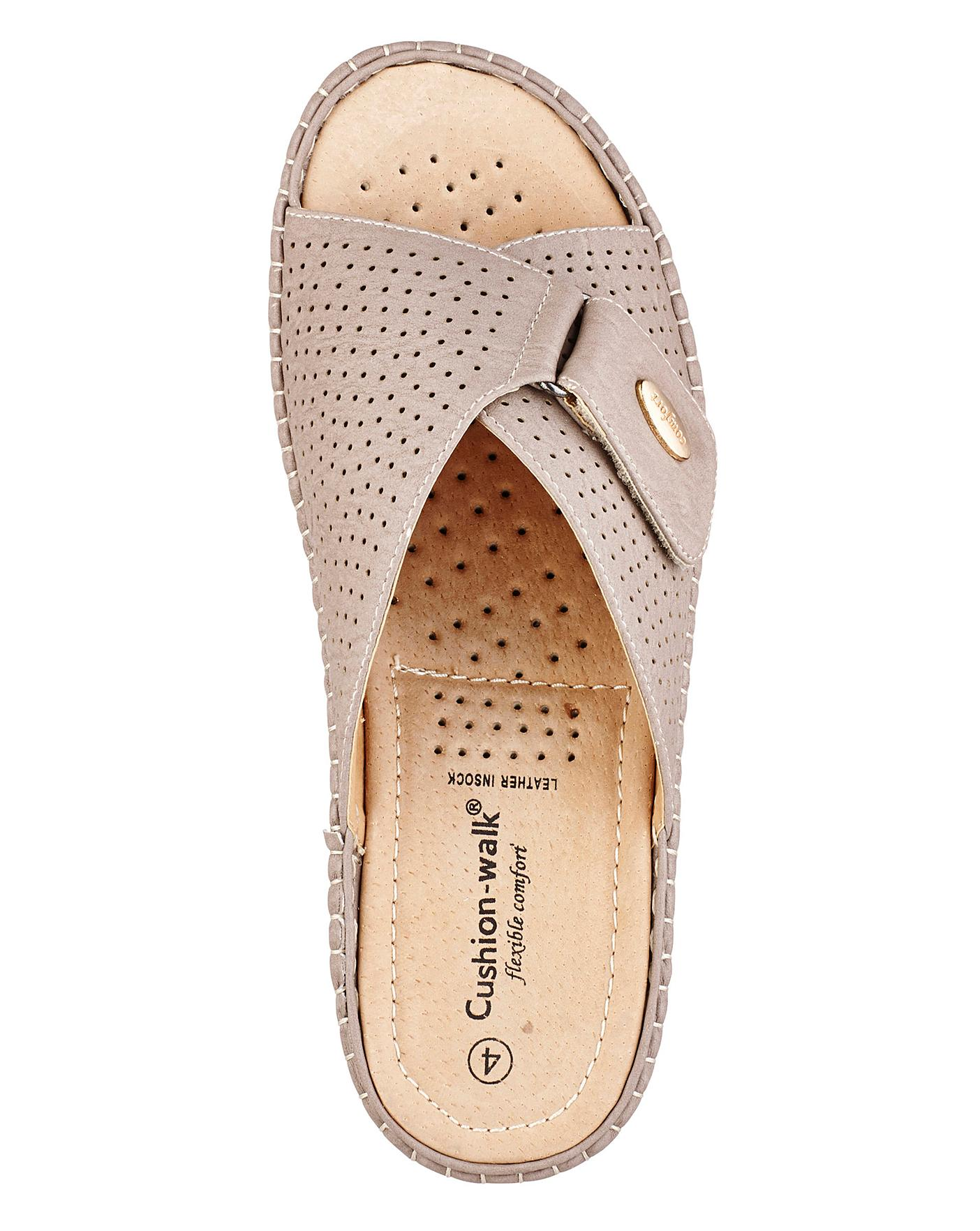 5a545bb8385b Description. These punch-detail adjustable strap mules from Cushion-walk ...