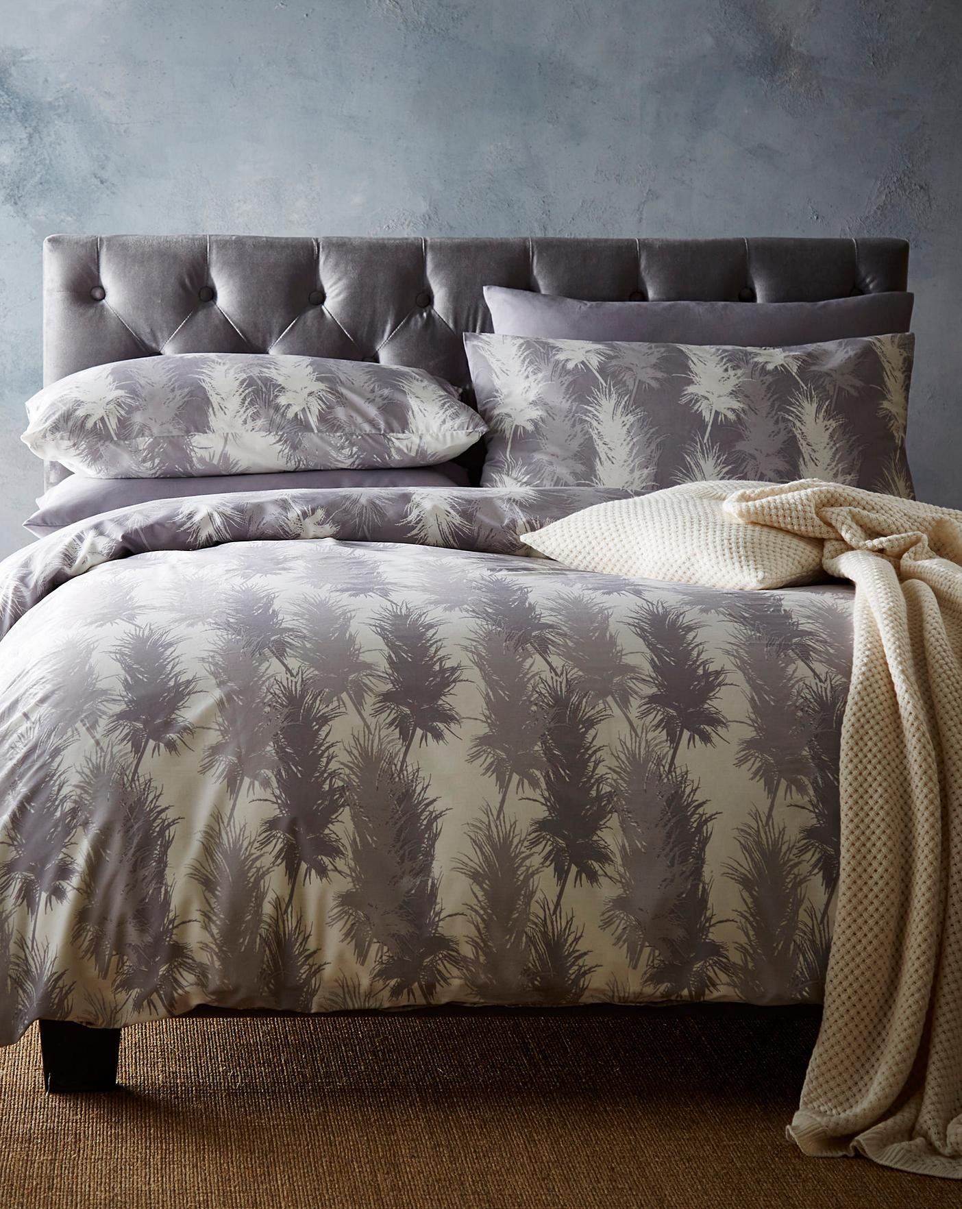 Pure Reversible Printed Duvet Cover Set Crazy Clearance