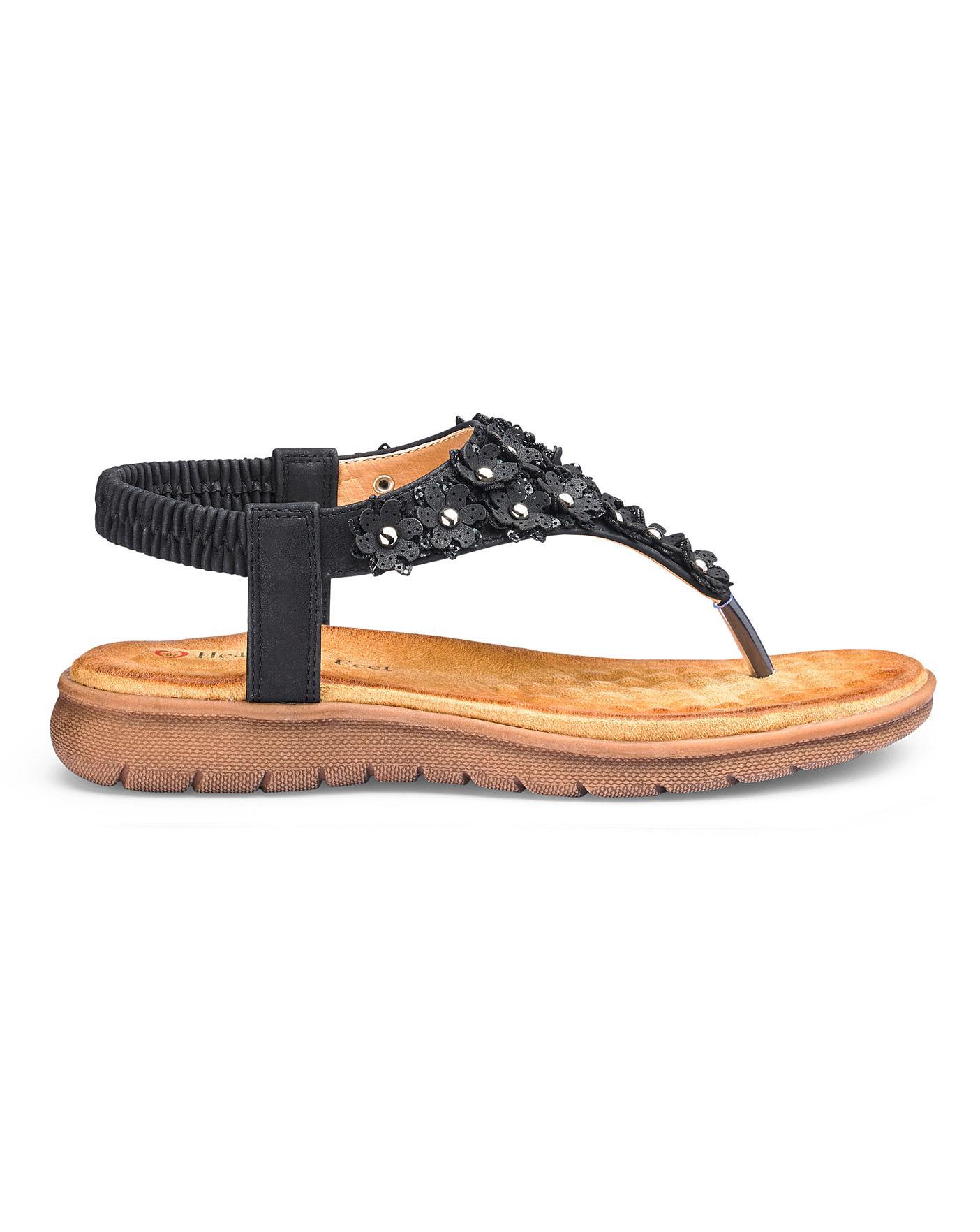 Heavenly Feet Toe Post Sandals E Fit
