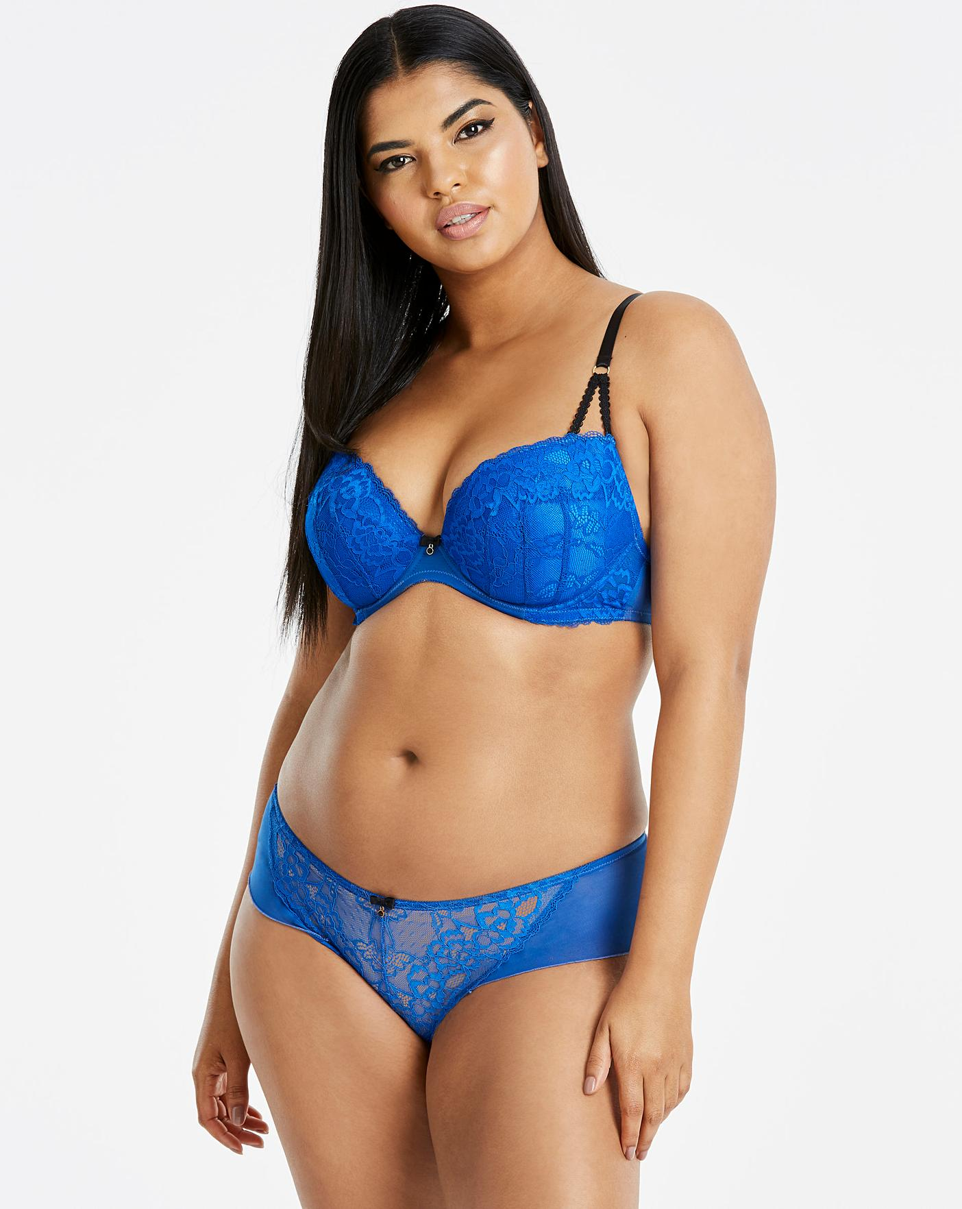 e3c8460cc296 Ann Summers Sexy Lace Plunge Cobalt Bra | Simply Be