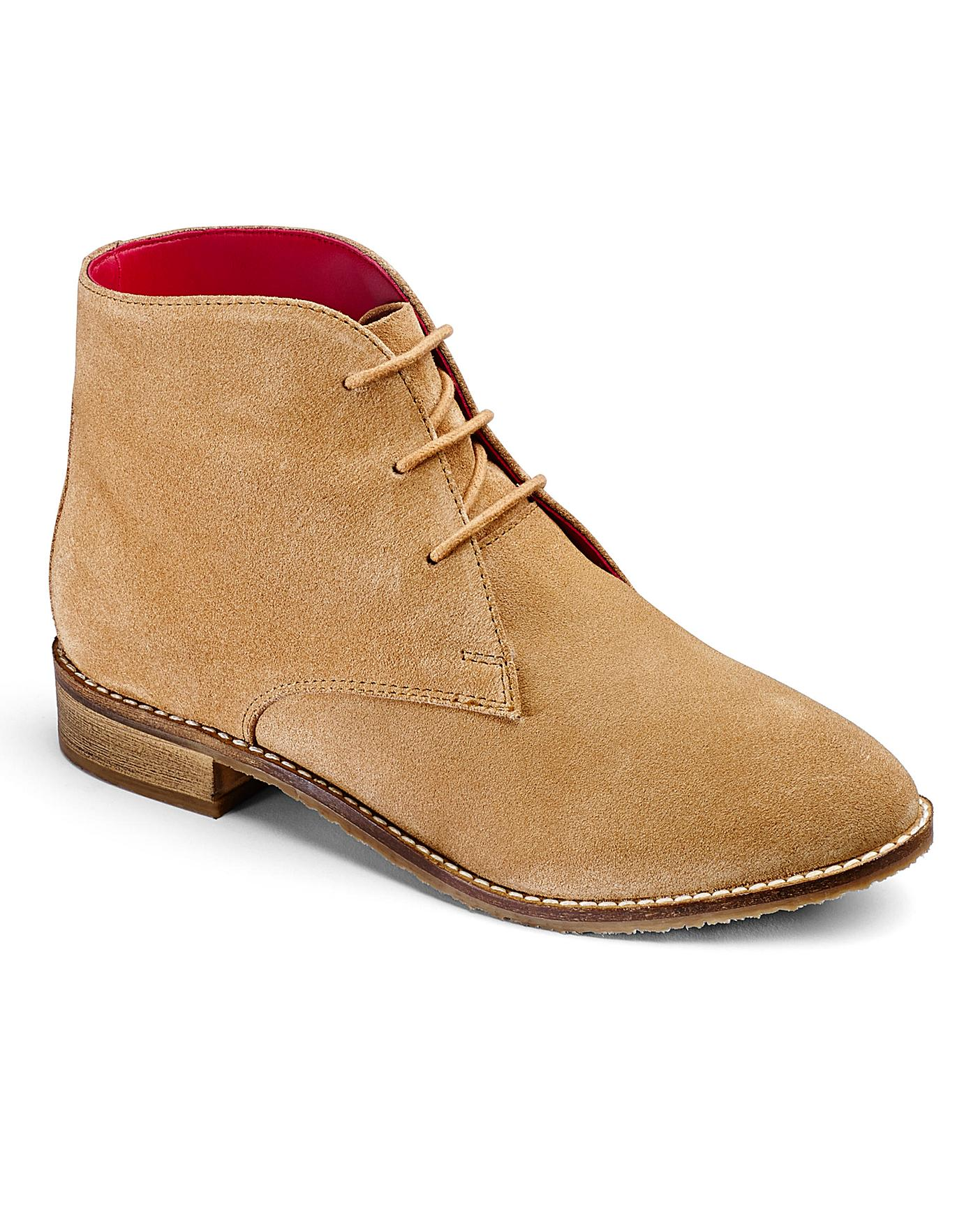 Brevitt Suede Lace Up Boots E Fit Crazy Clearance