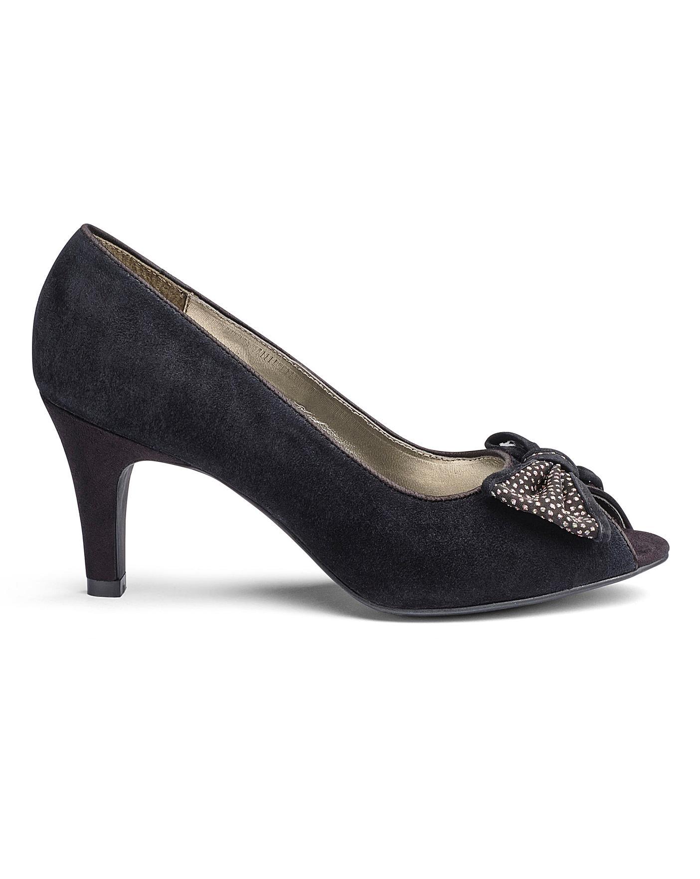 Lotus Peep Toe Shoes E Fit | Oxendales