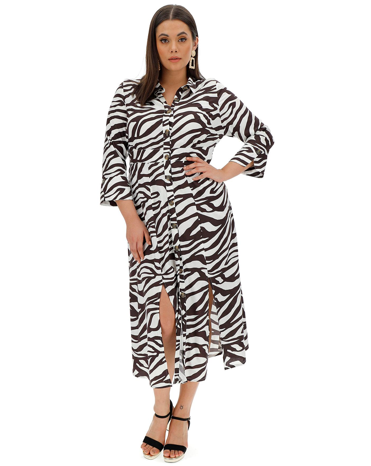 Zebra Split From Dress