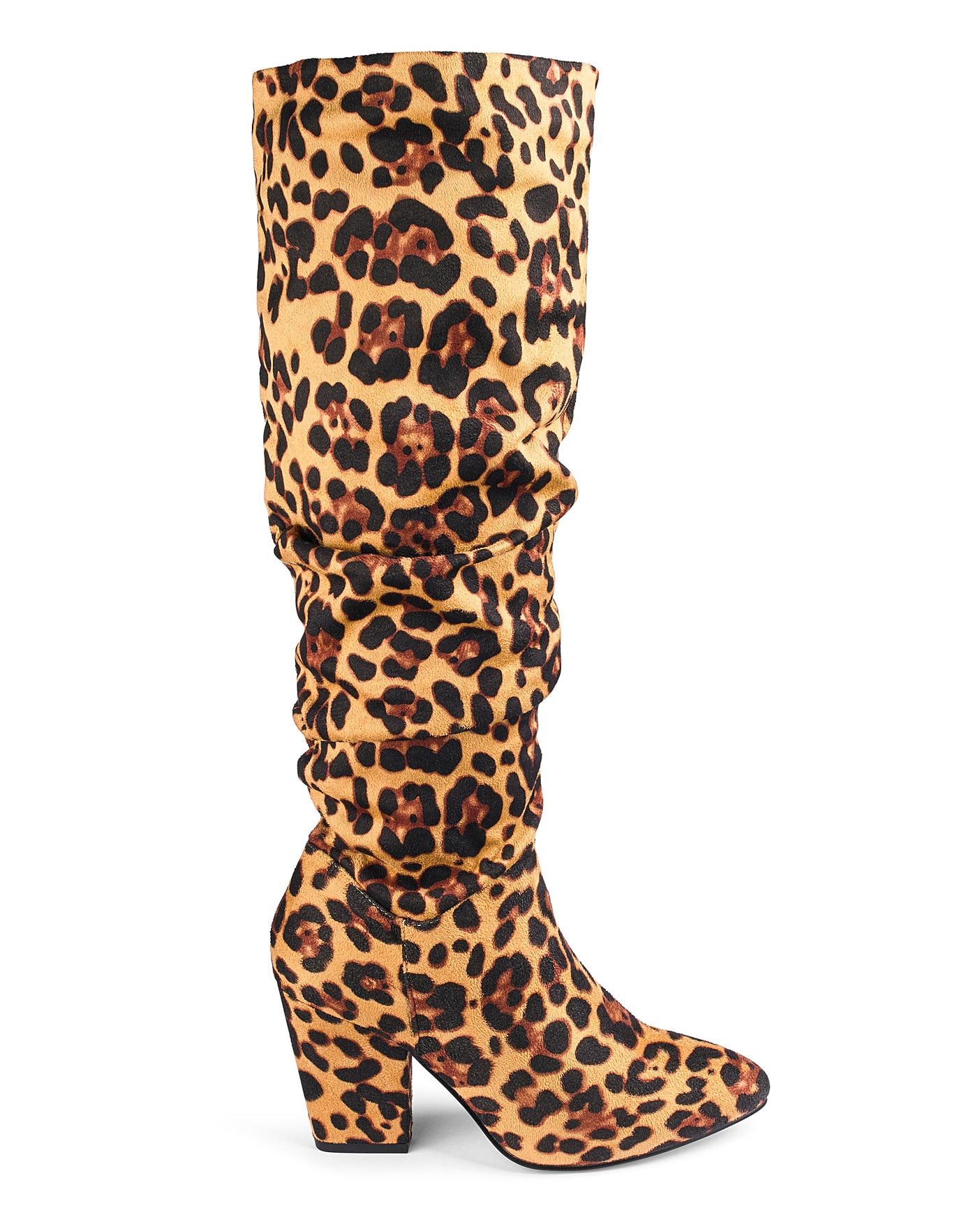Soft Ruched Boots EEE Fit Standard Calf