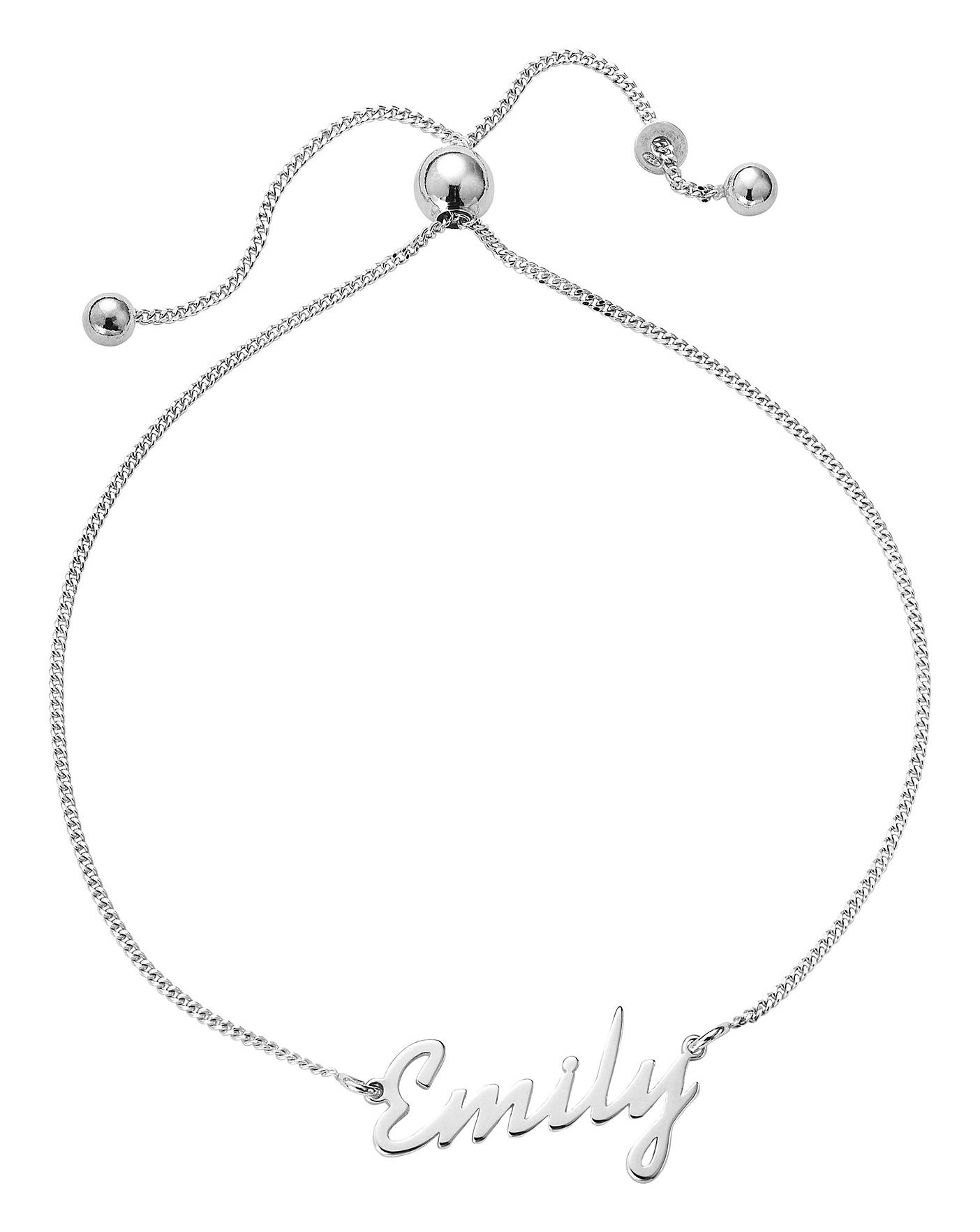 ec4e48fae6afb Sterling Silver Personalised Bracelet