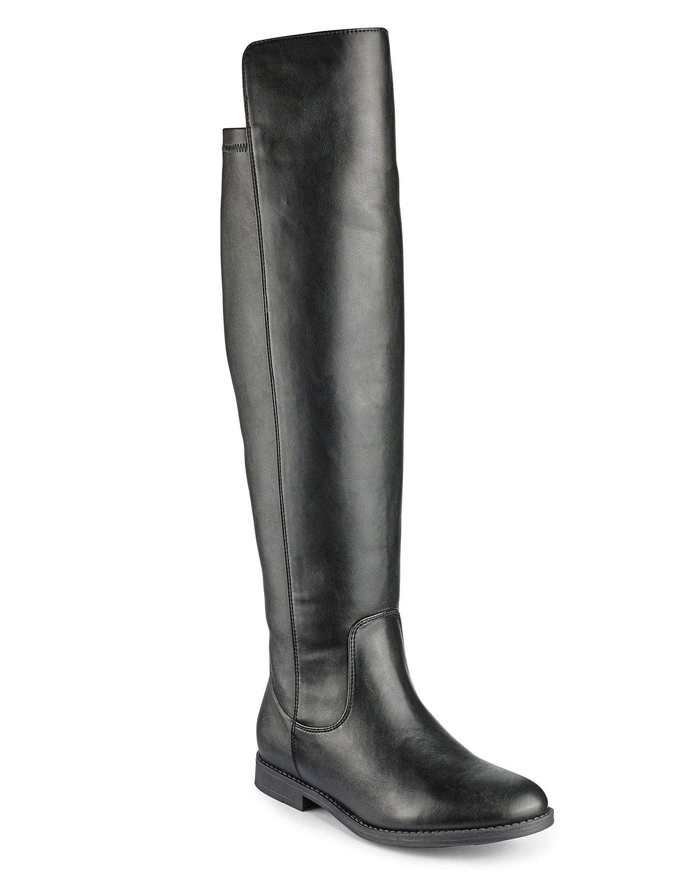 c1ade1044ed Sole Diva Over The Knee Standard Calf Boots Extra Wide EEE Fit