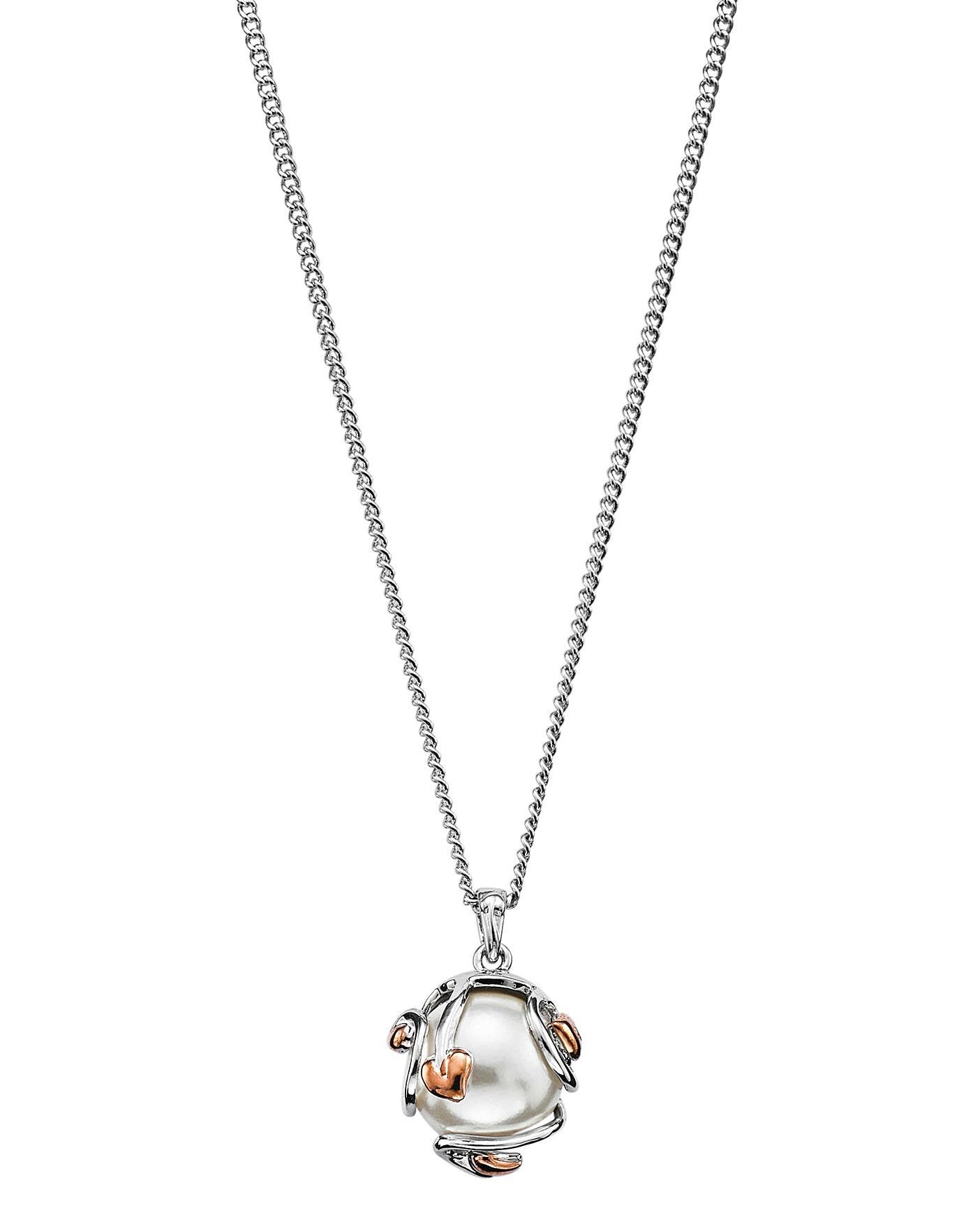 11e2fb1e4ad8f Clogau Silver And 9ct Rose Gold Tree Of Life Pearl Pendant - Best ...