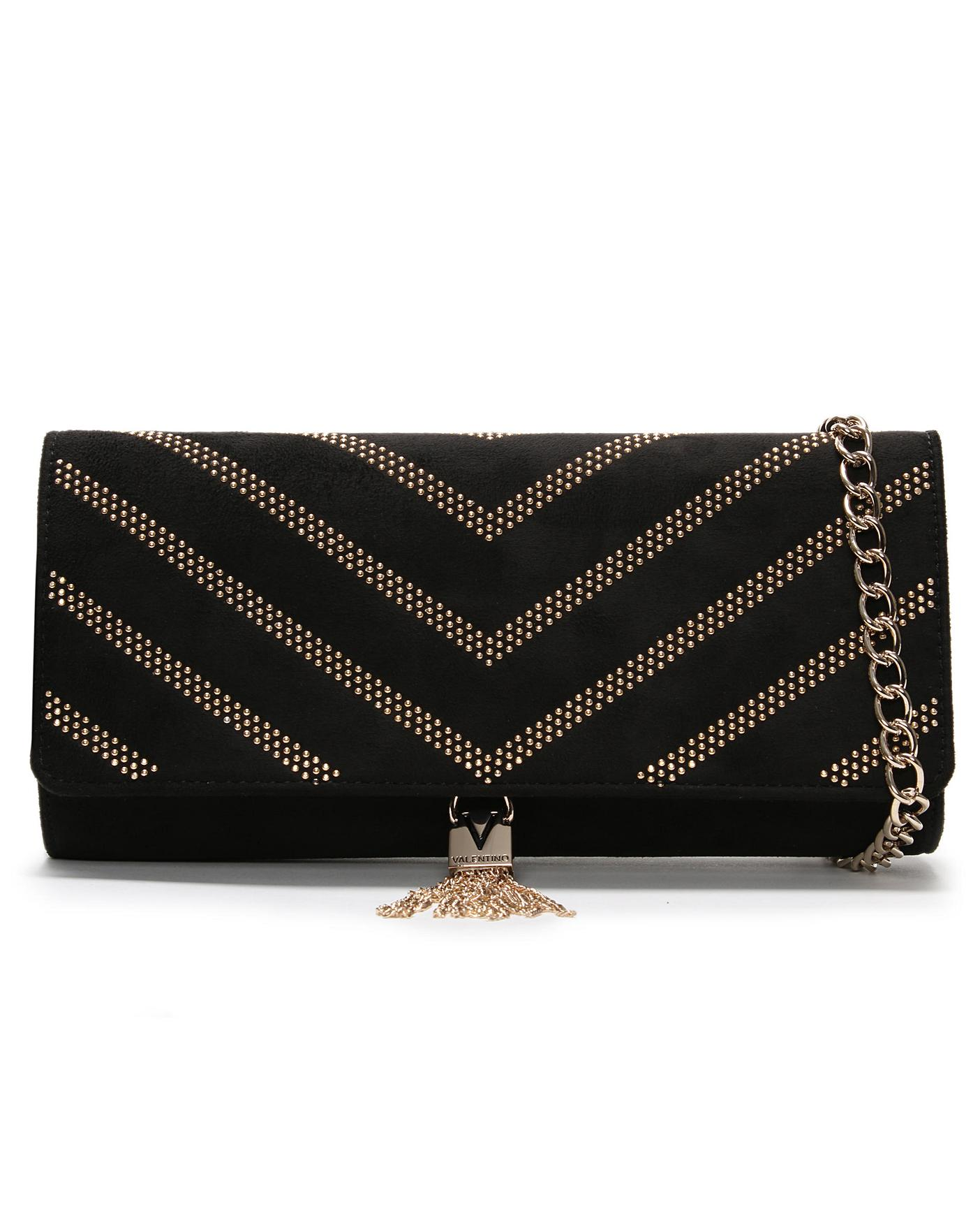 buy real recognized brands united kingdom Mario Valentino Dime Studded Clutch Bag