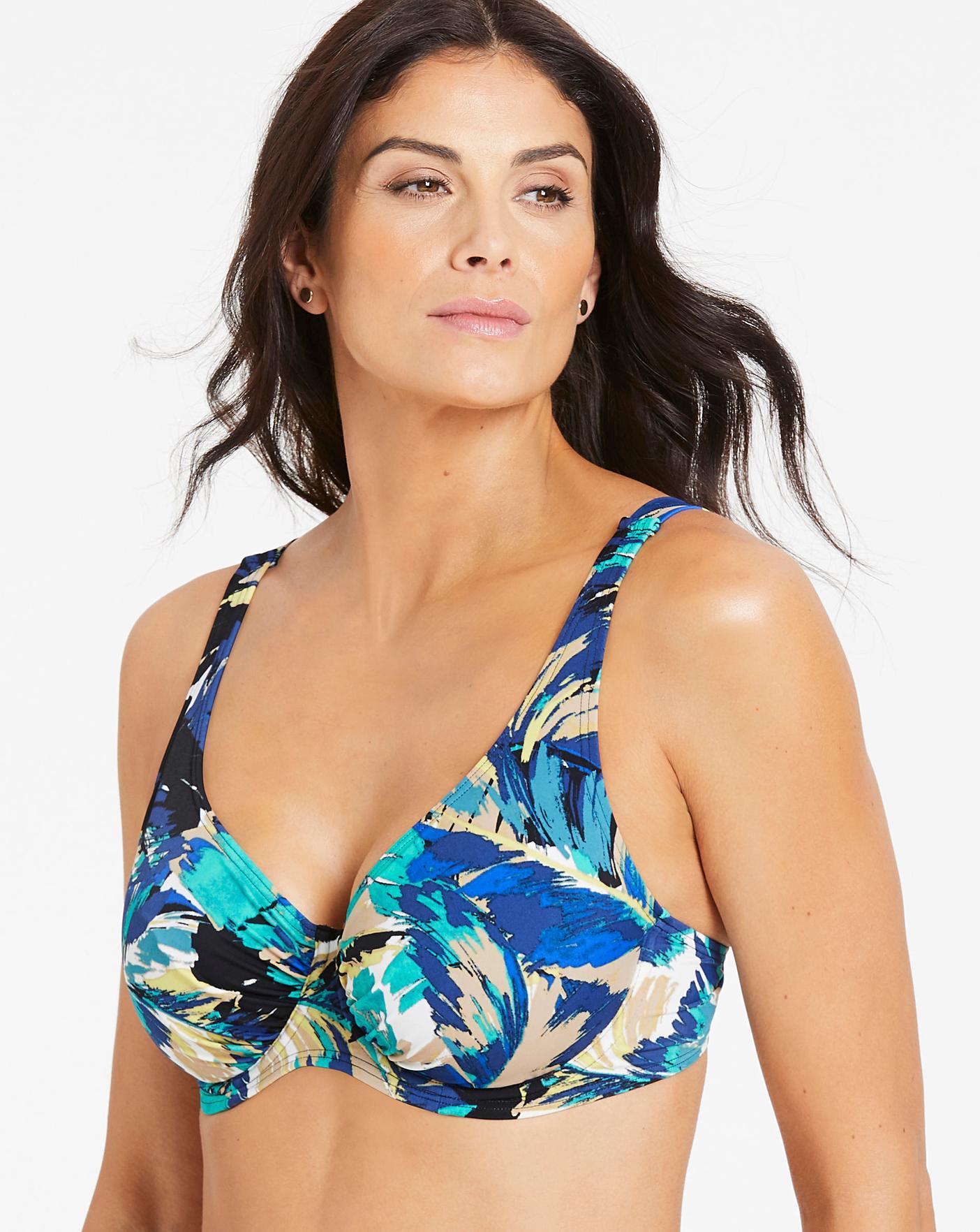 Womens Bikini Top Firm Control Magisculpt Underwired Bikini Top Simply Be