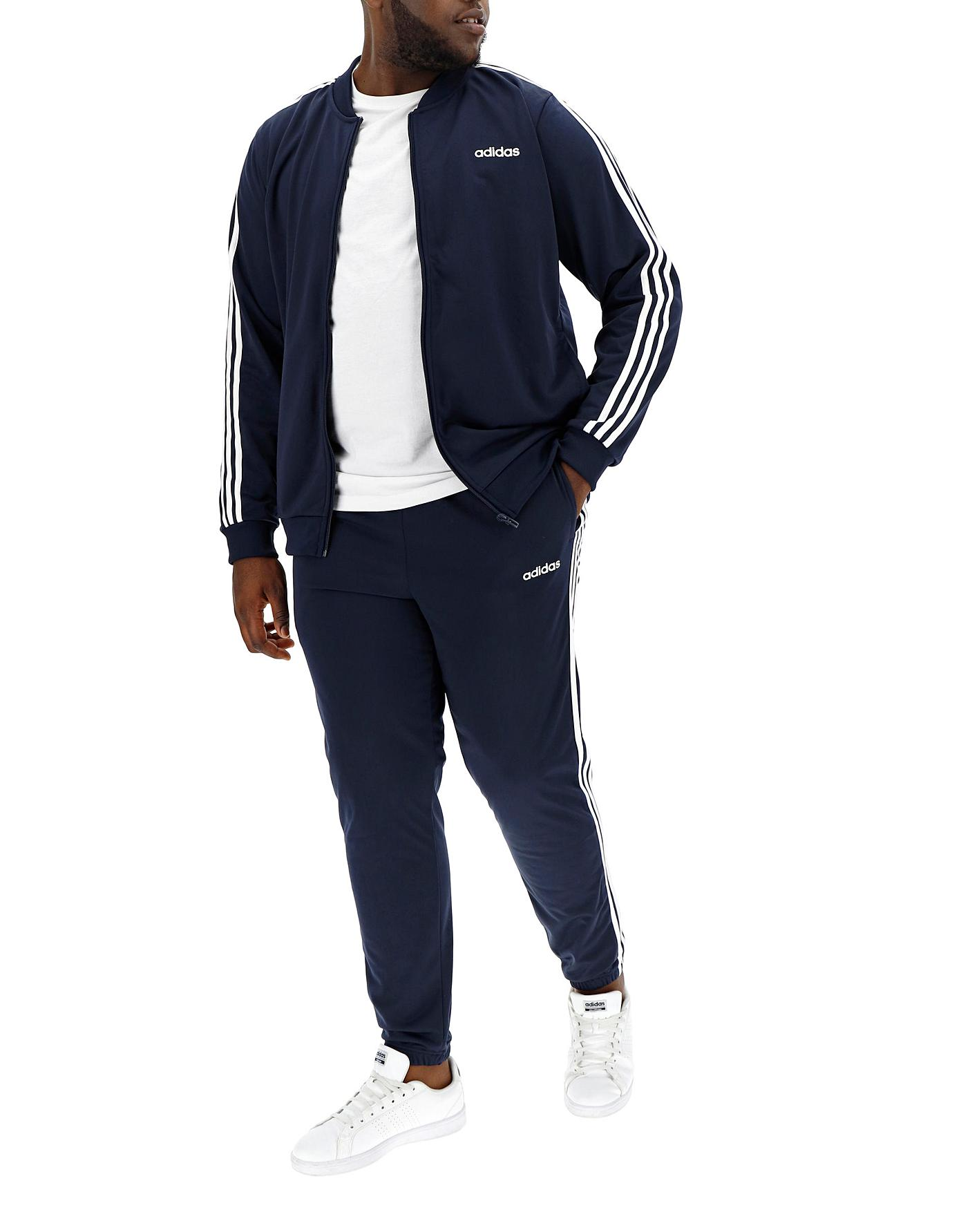 new release great fit hot new products adidas Back to Basics 3 Stripe Tracksuit