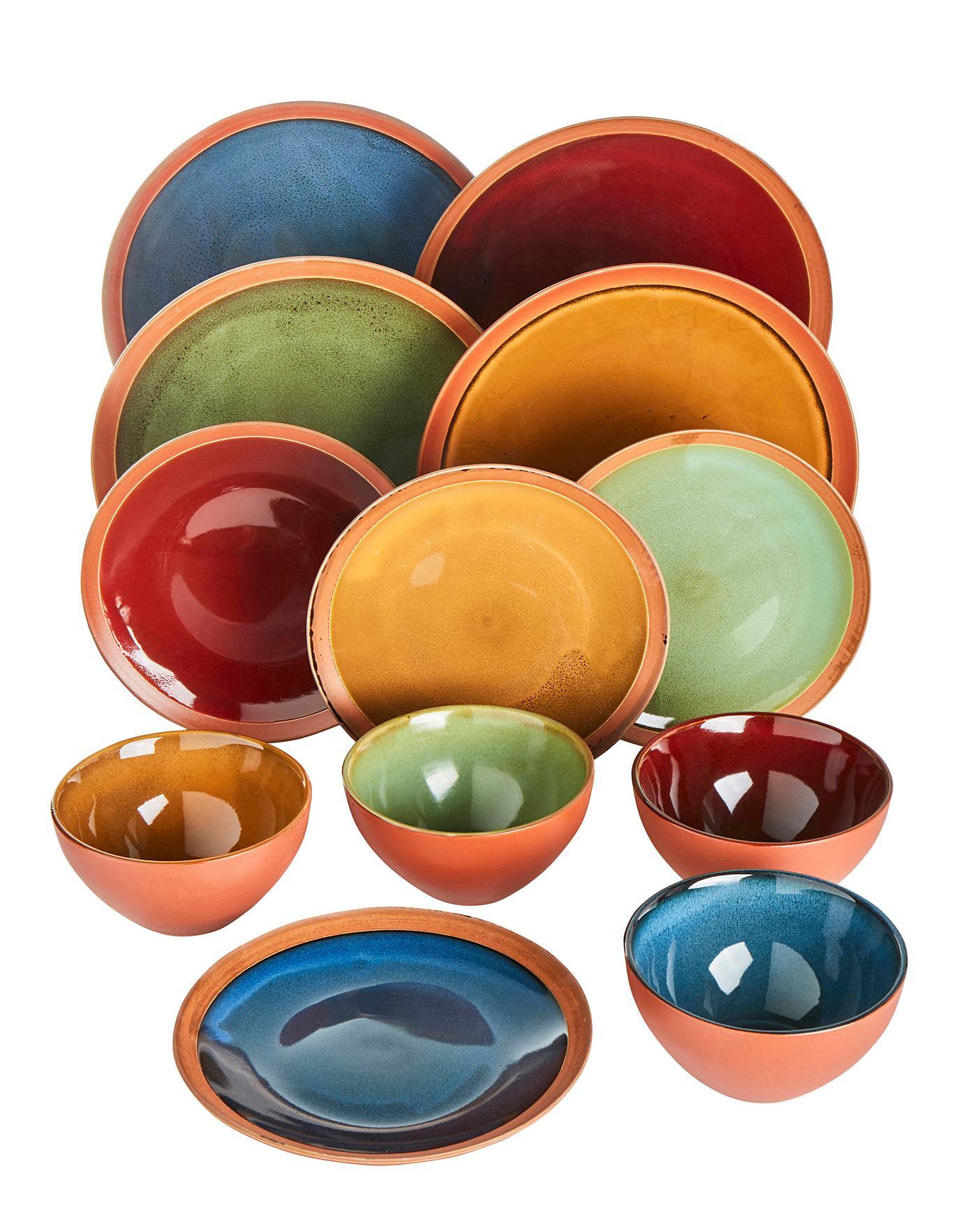 Terracotta Glaze 12 Piece Dinner Set