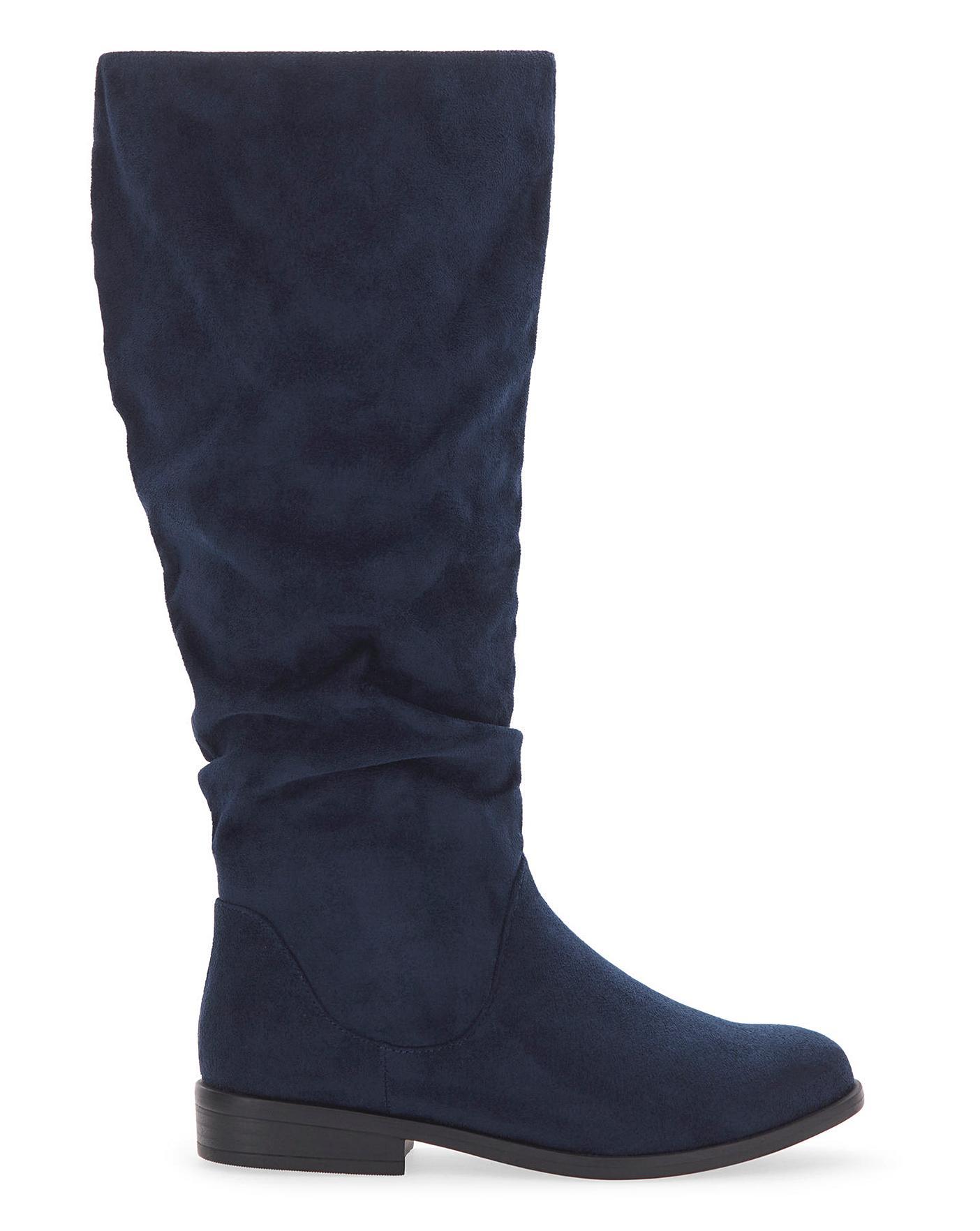 Microsuede Boots EEE Fit Standard Calf