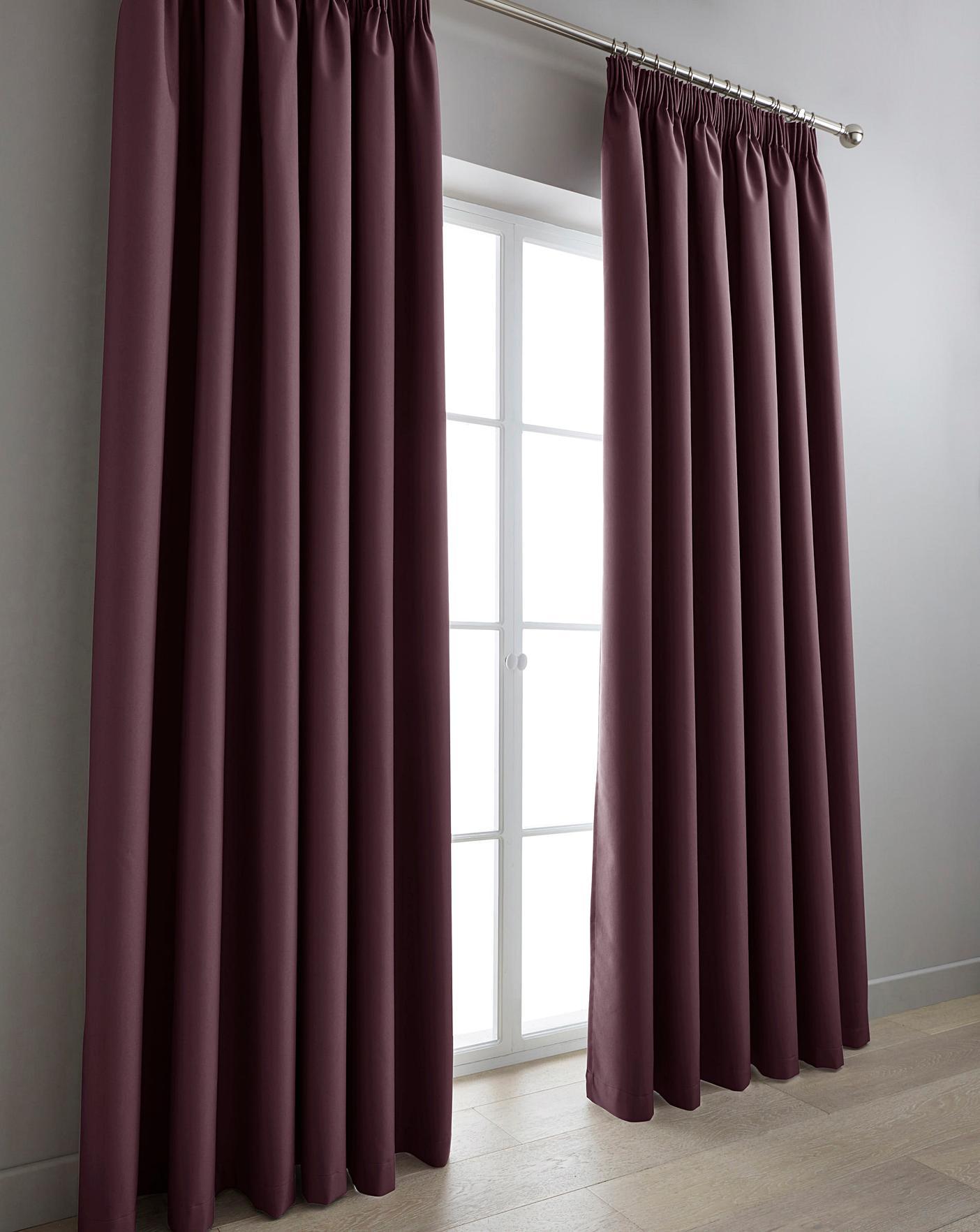 Eclipse Blackout Pencil Pleat Curtains Home Beauty