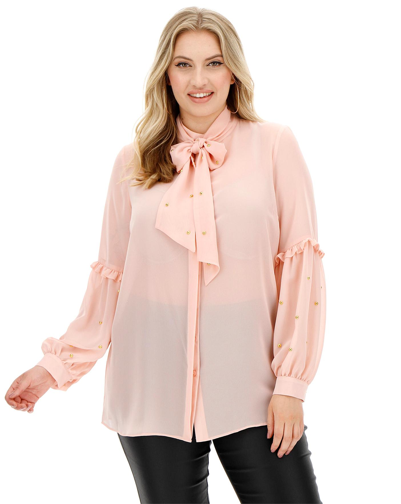 joanna-hope-blush-stud-blouse by simply-be