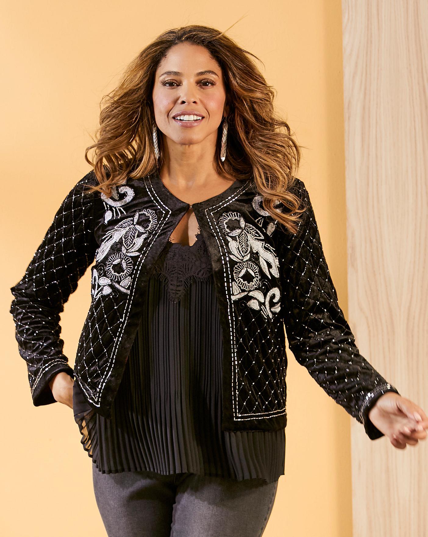 Joanna Hope Embellished Jacket Oxendales