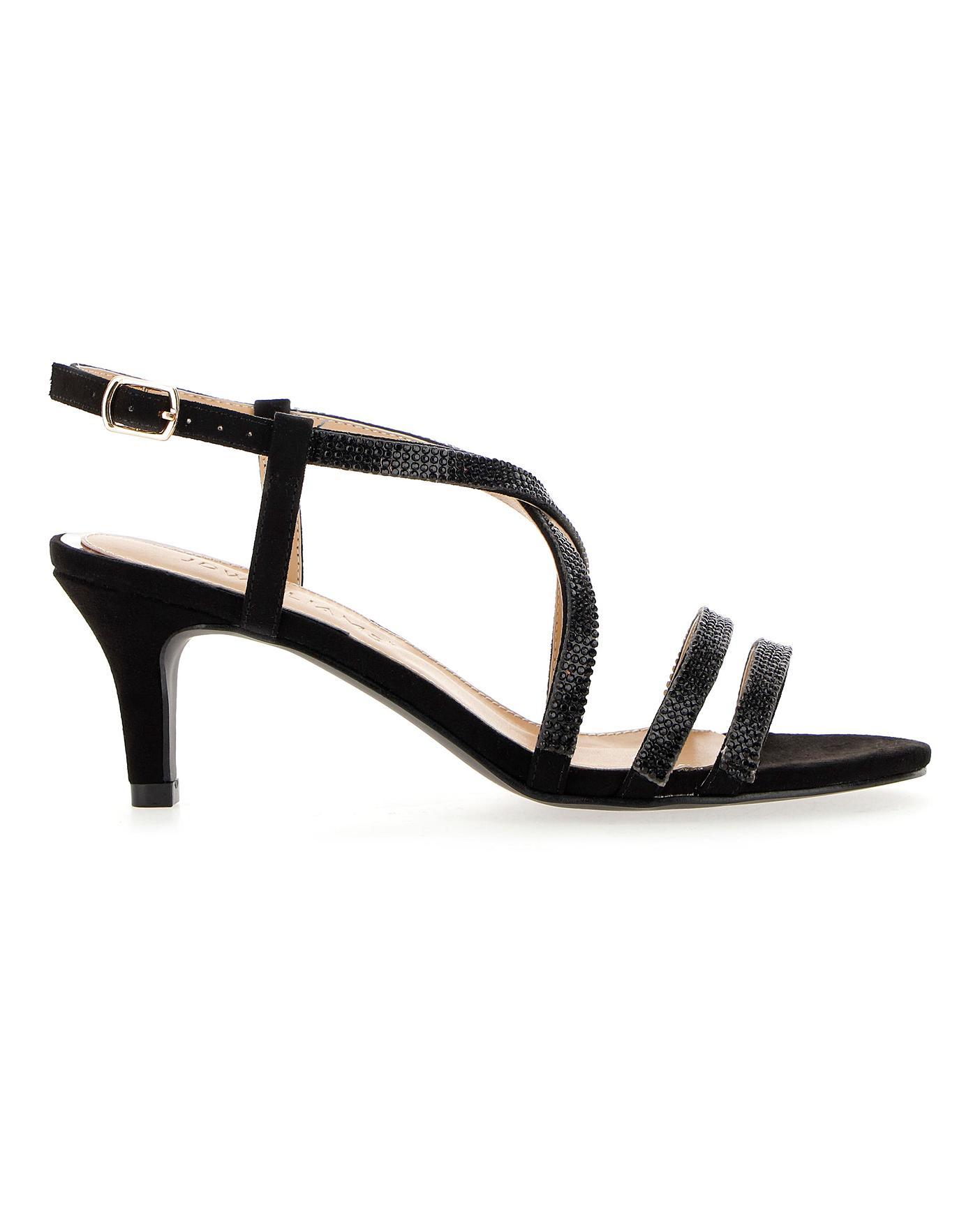 Diamante Detail Strappy Sandals E Fit