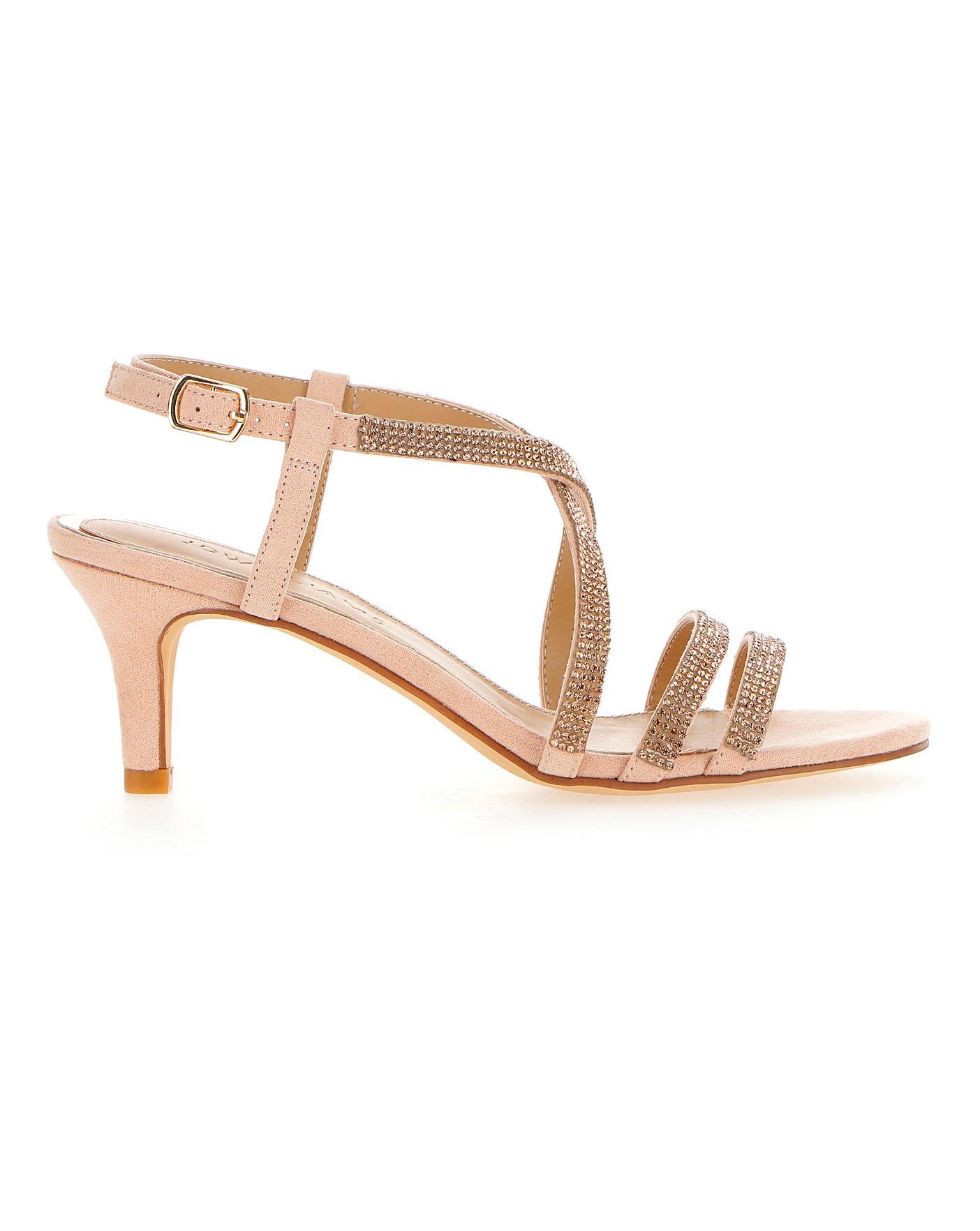 Diamante Detail Strappy Sandals EEE Fit