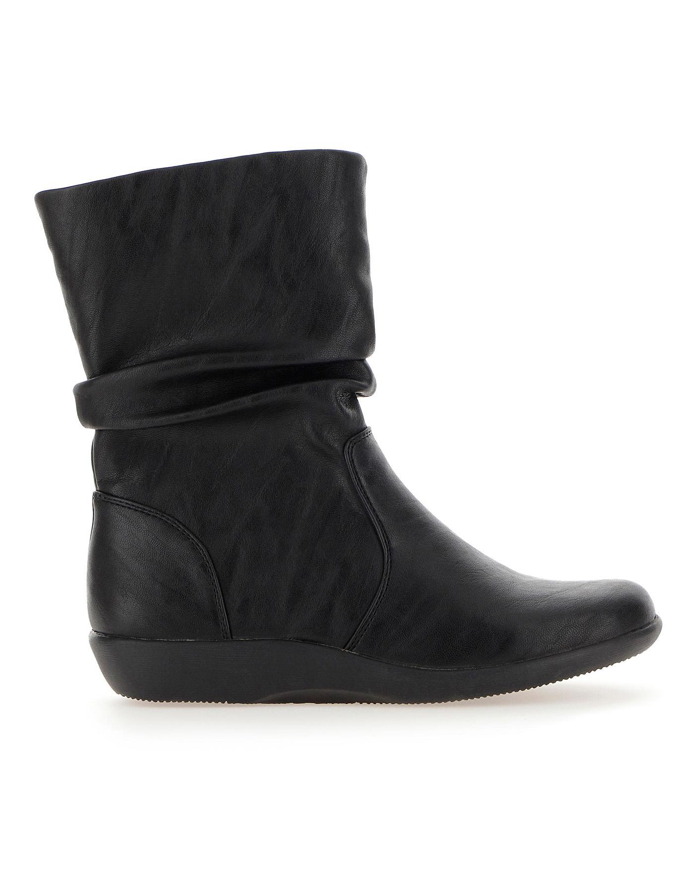 Cushion Walk Mid Boots E Fit   J D Williams
