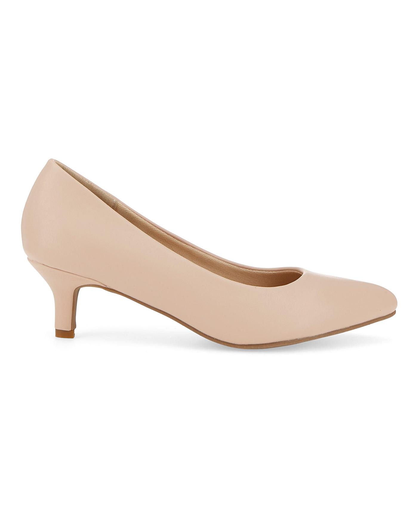Flexi Sole Kitten Heel Shoes EEE Fit