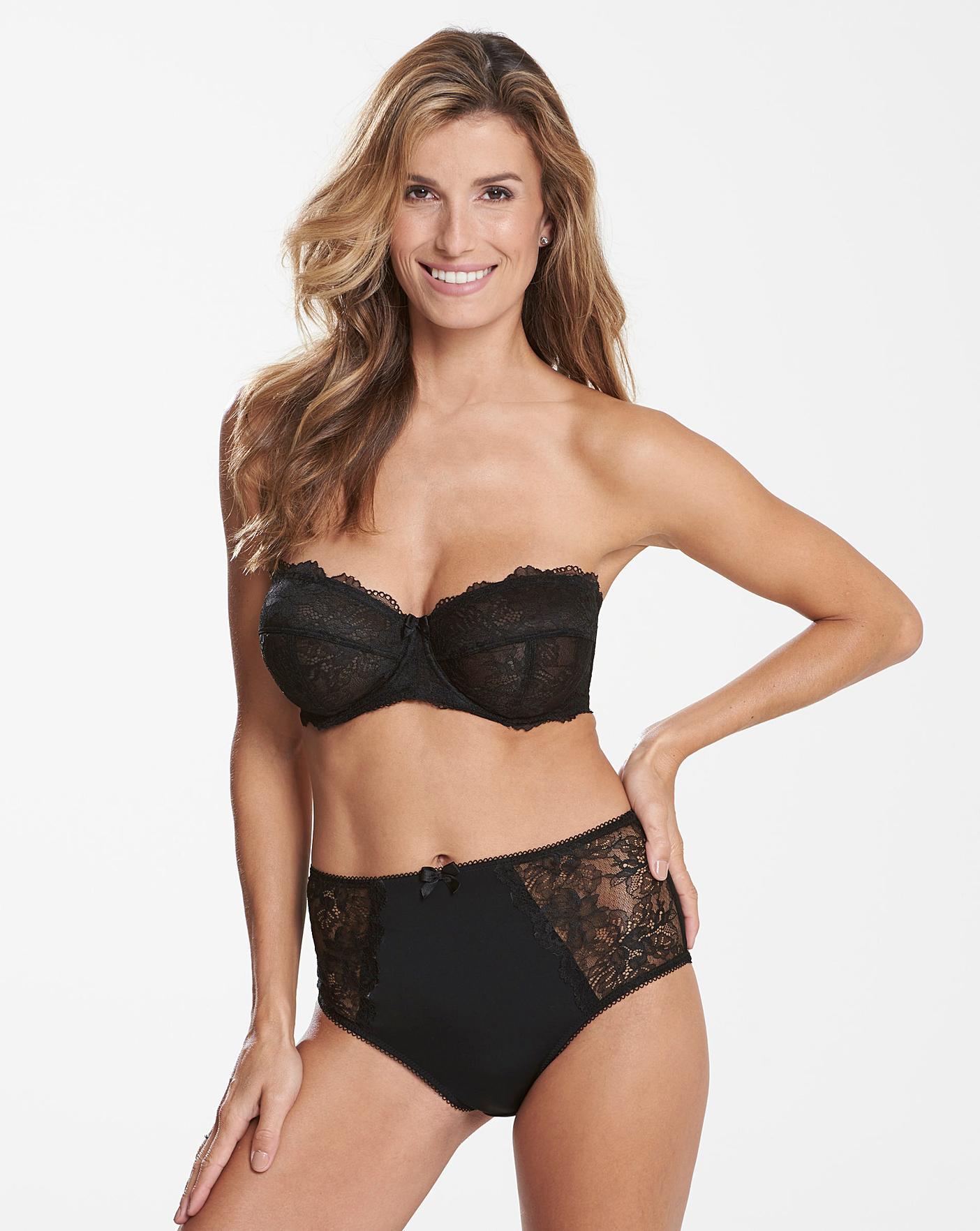 Size 38E Pretty Secrets Ella Lace Black Multiway Bra